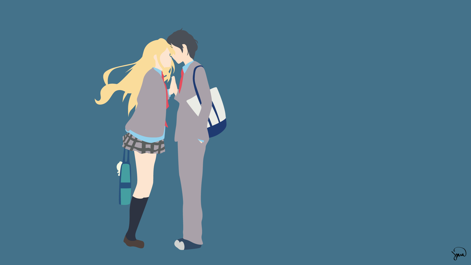 Anime Characters Born On April 7 : Your lie in april wallpapers wallpaper cave