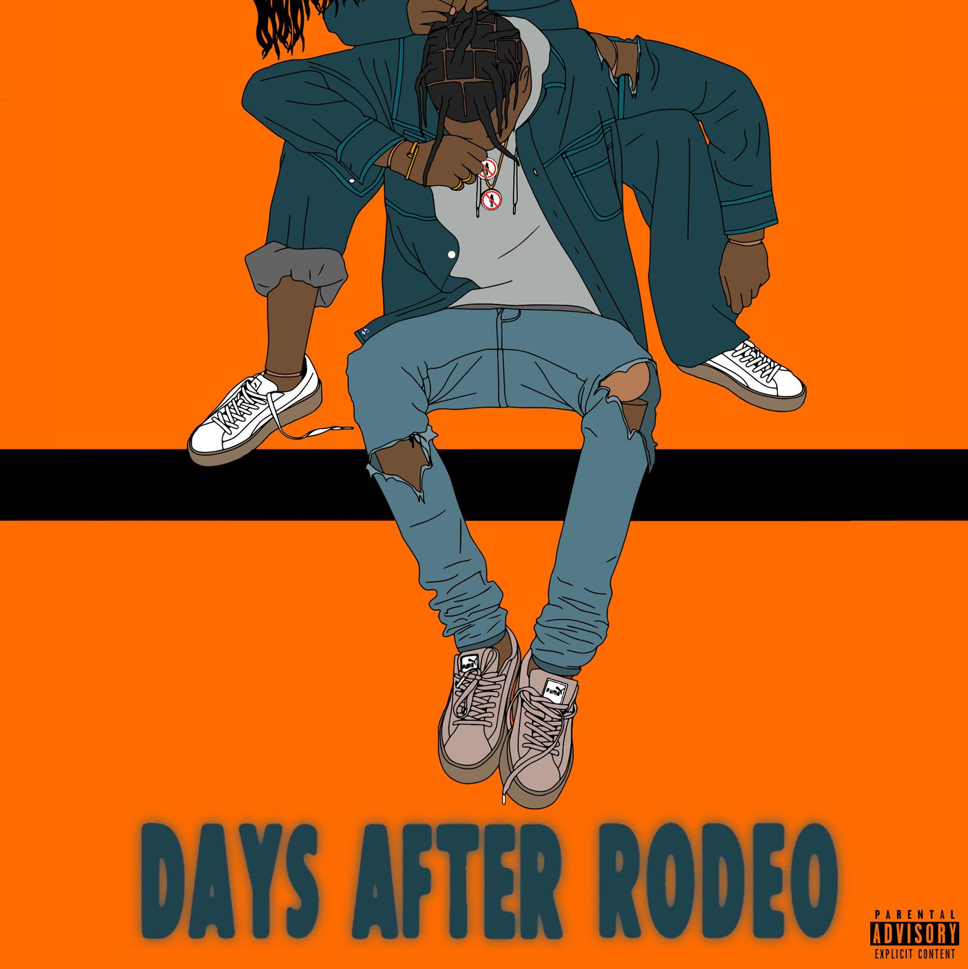 Travis Scott - Days After Rodeo album cover. Thoughts (fan art ...