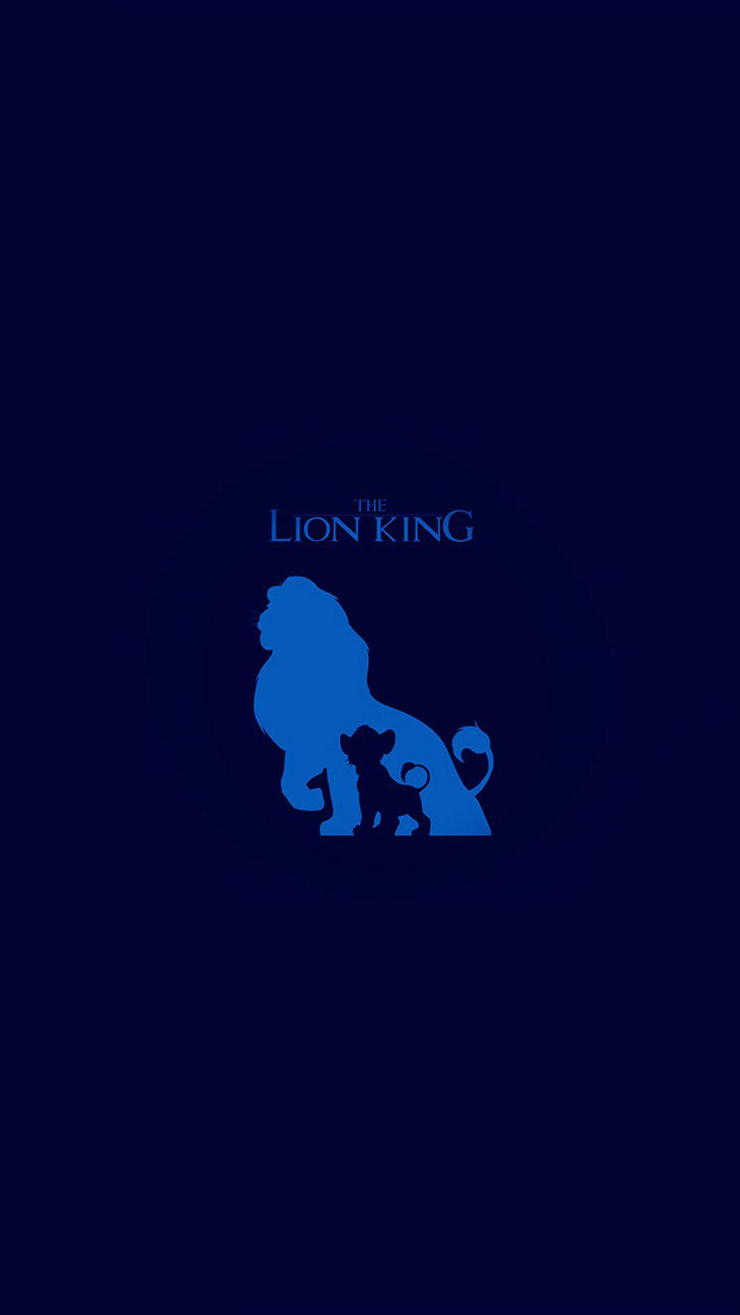 The Lion King Blue Minimal Art iPhone 6 Wallpaper Download .