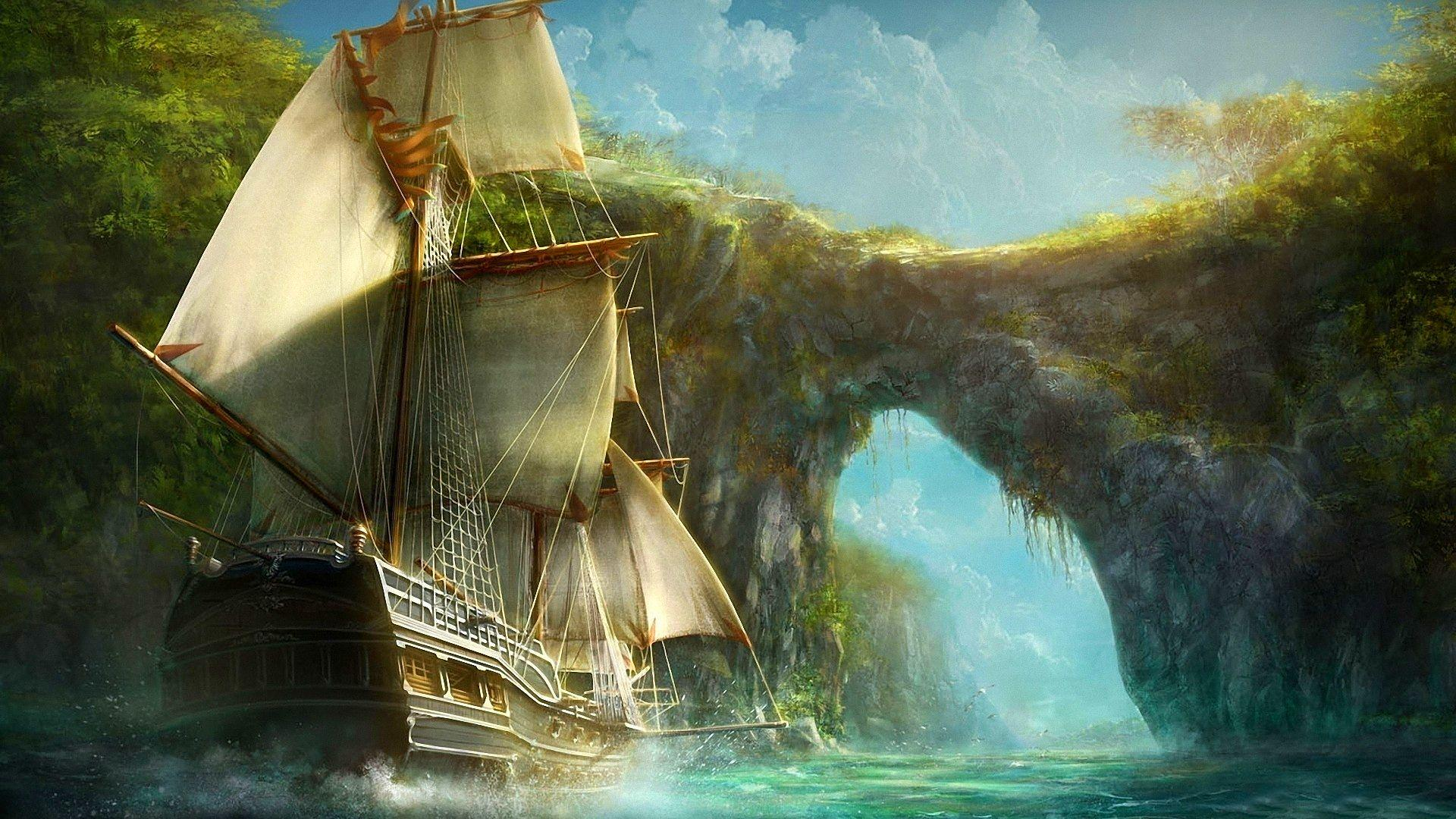 Wallpapers pirate ship hd magical 1920x1080 1628660 pirate ship