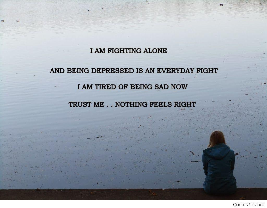 Sad depression quotes wallpapers