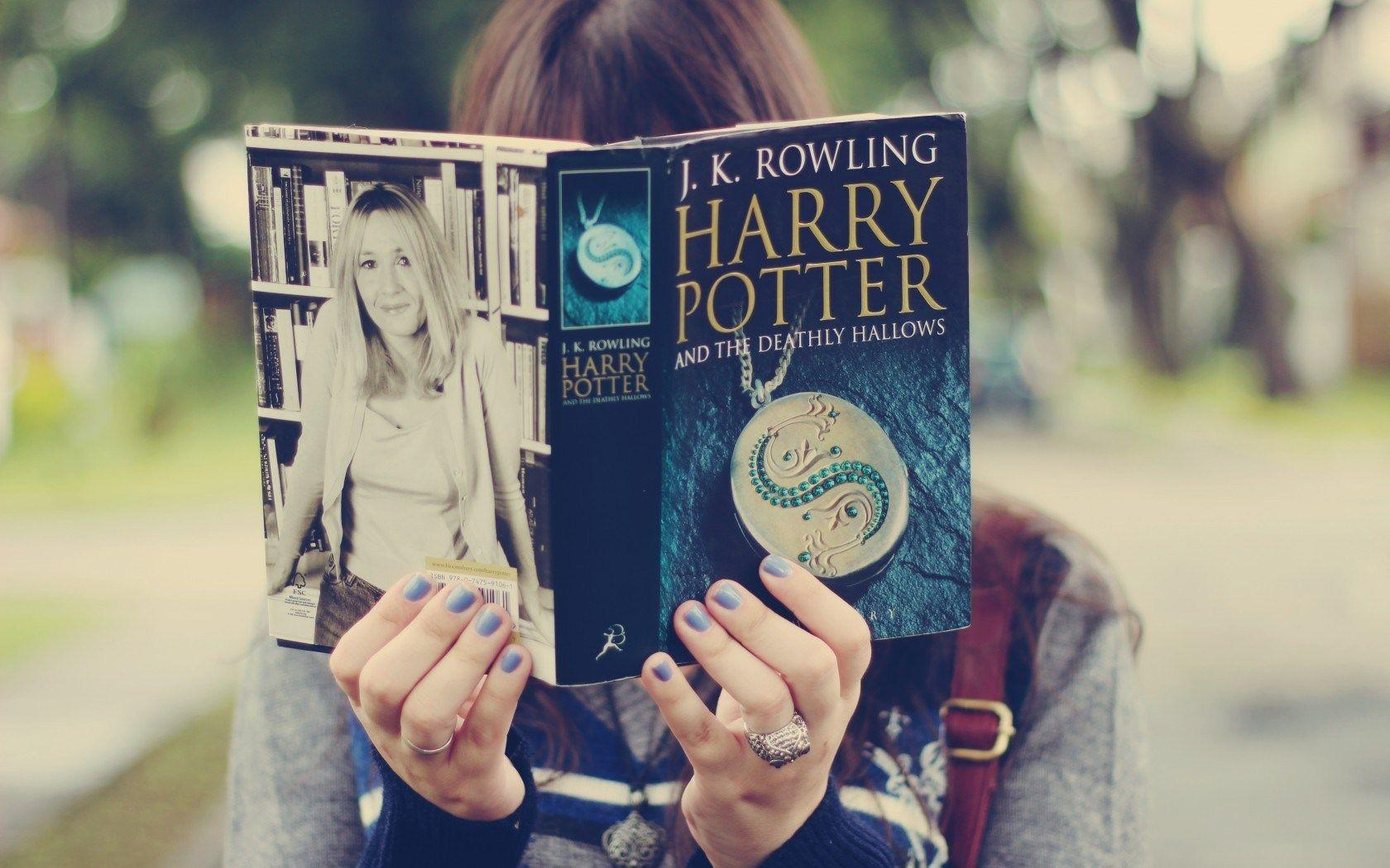 read book, girl, hand, harry potter, mood, photo, wallpapers