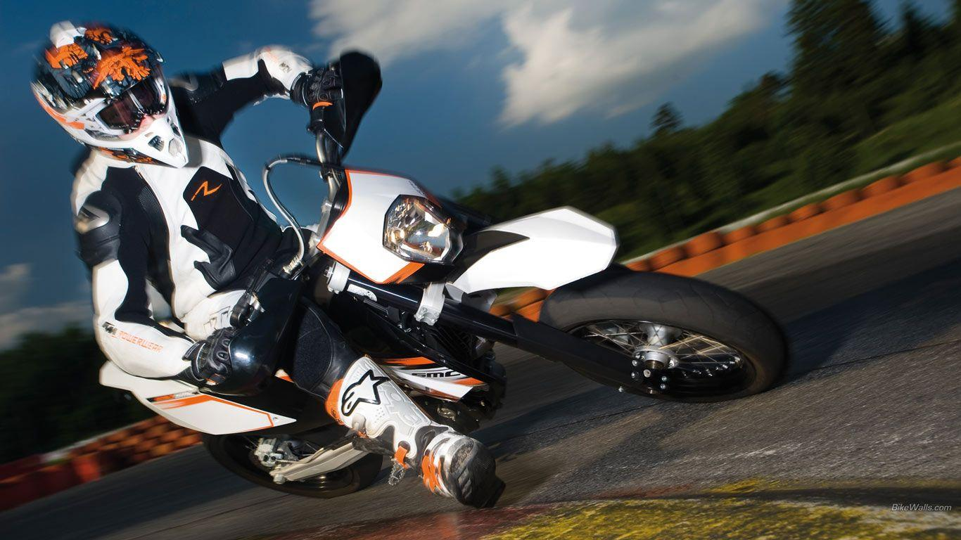 Wallpapers Supermoto Ktm Smc X 1366x768