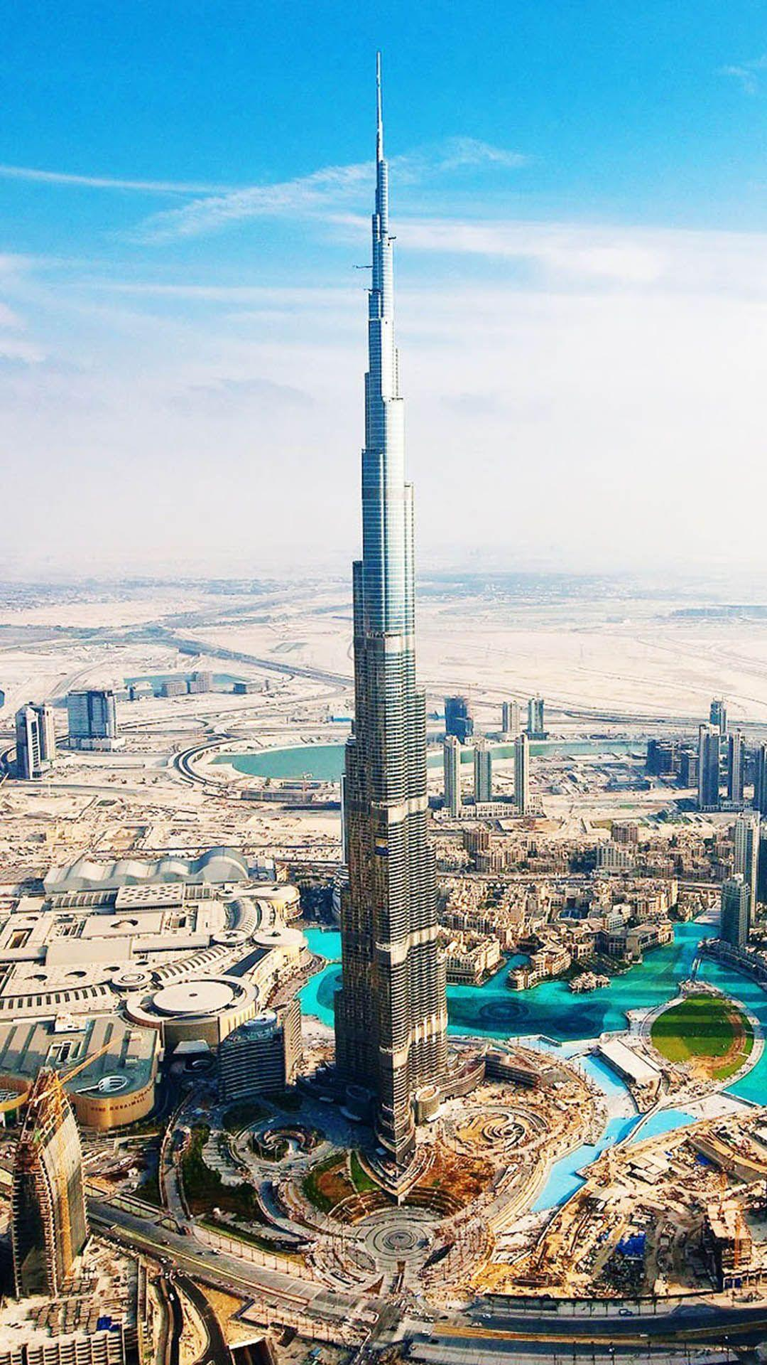 HD Background Burj Khalifa Dubai UAE Day View Wallpaper ...