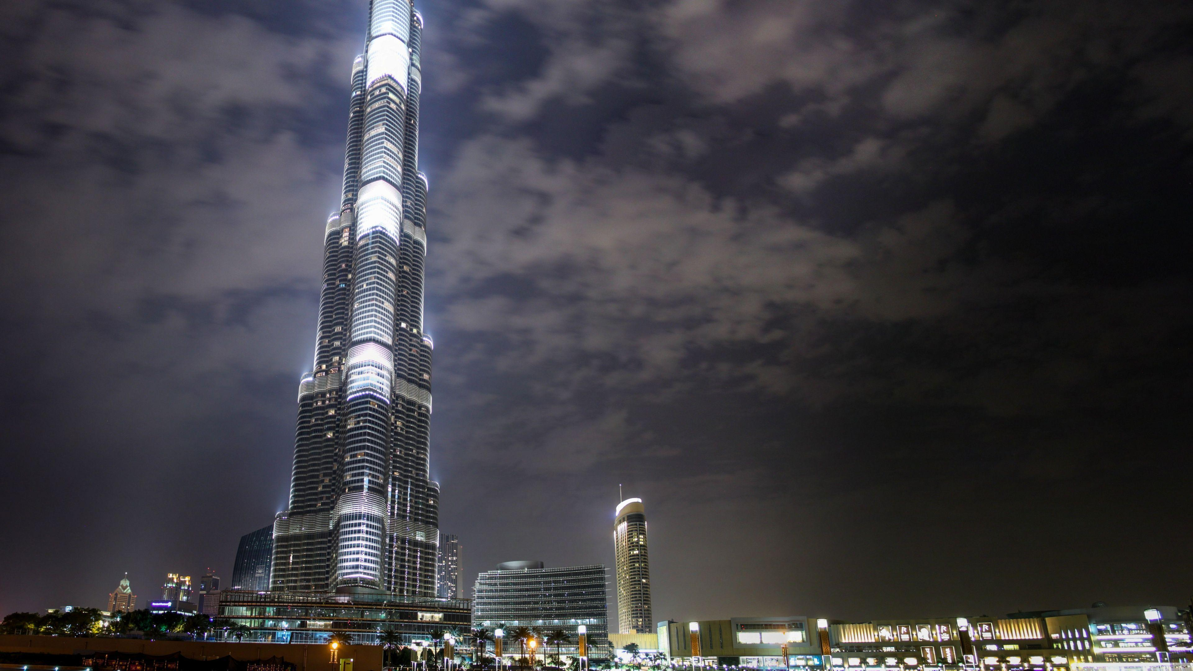 Burj Khalifa At Night HD desktop wallpaper : Widescreen : High ...