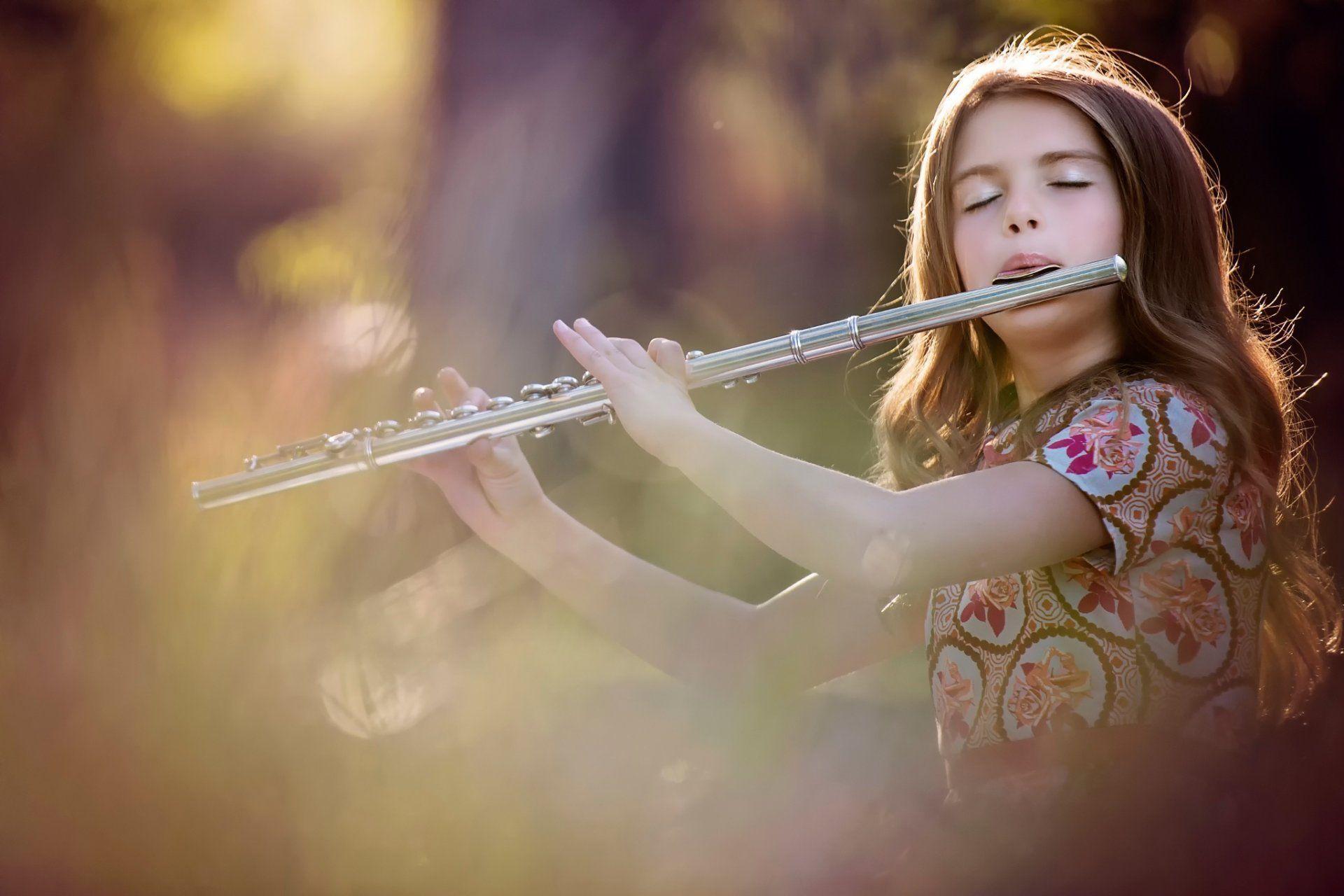 girl flute game HD wallpaper