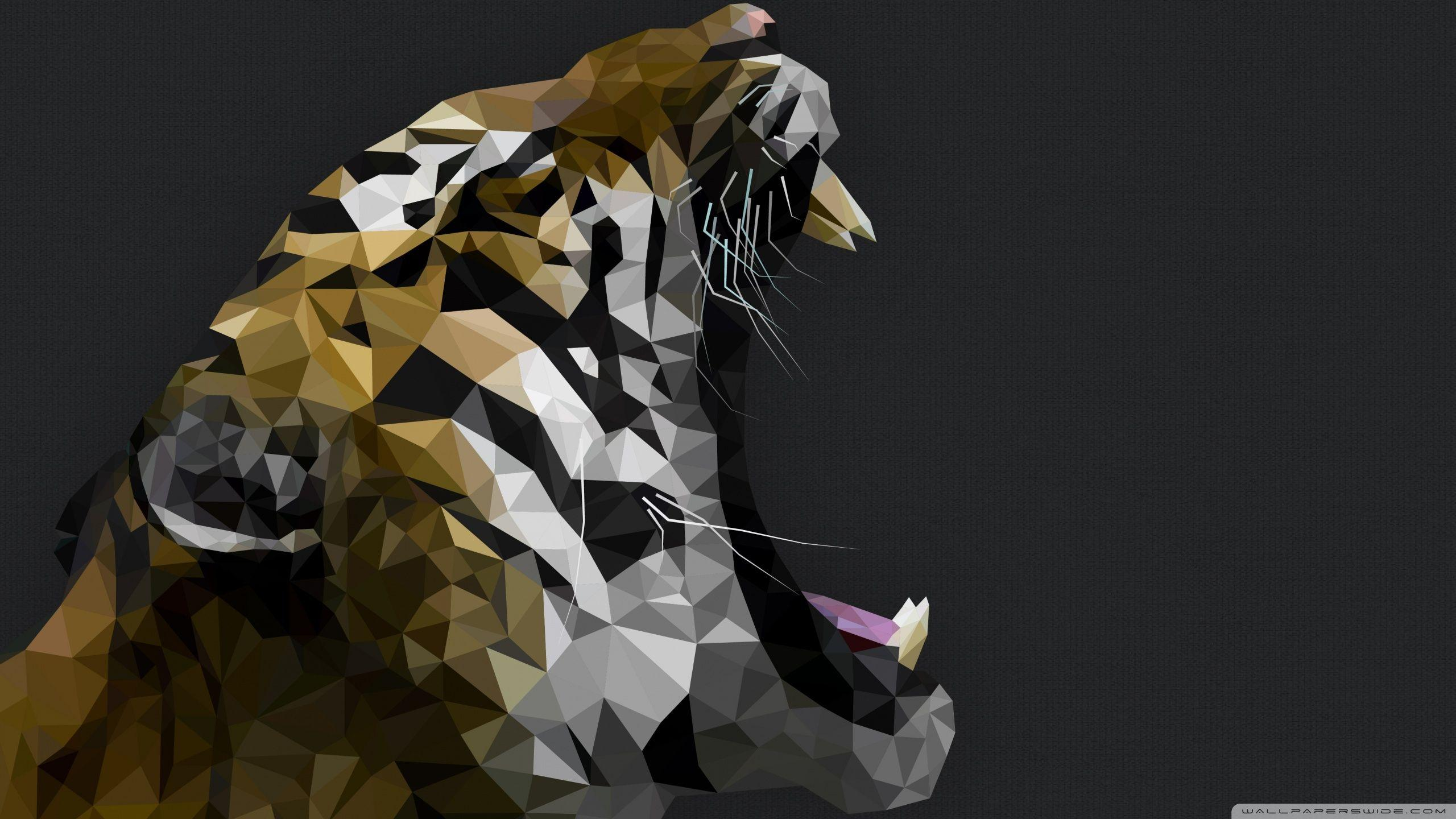 Polygon Tiger HD desktop wallpaper : Widescreen : High Definition ...