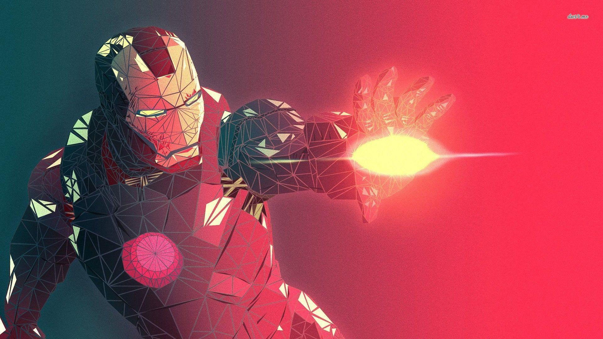 Polygon Iron Man Wallpaper