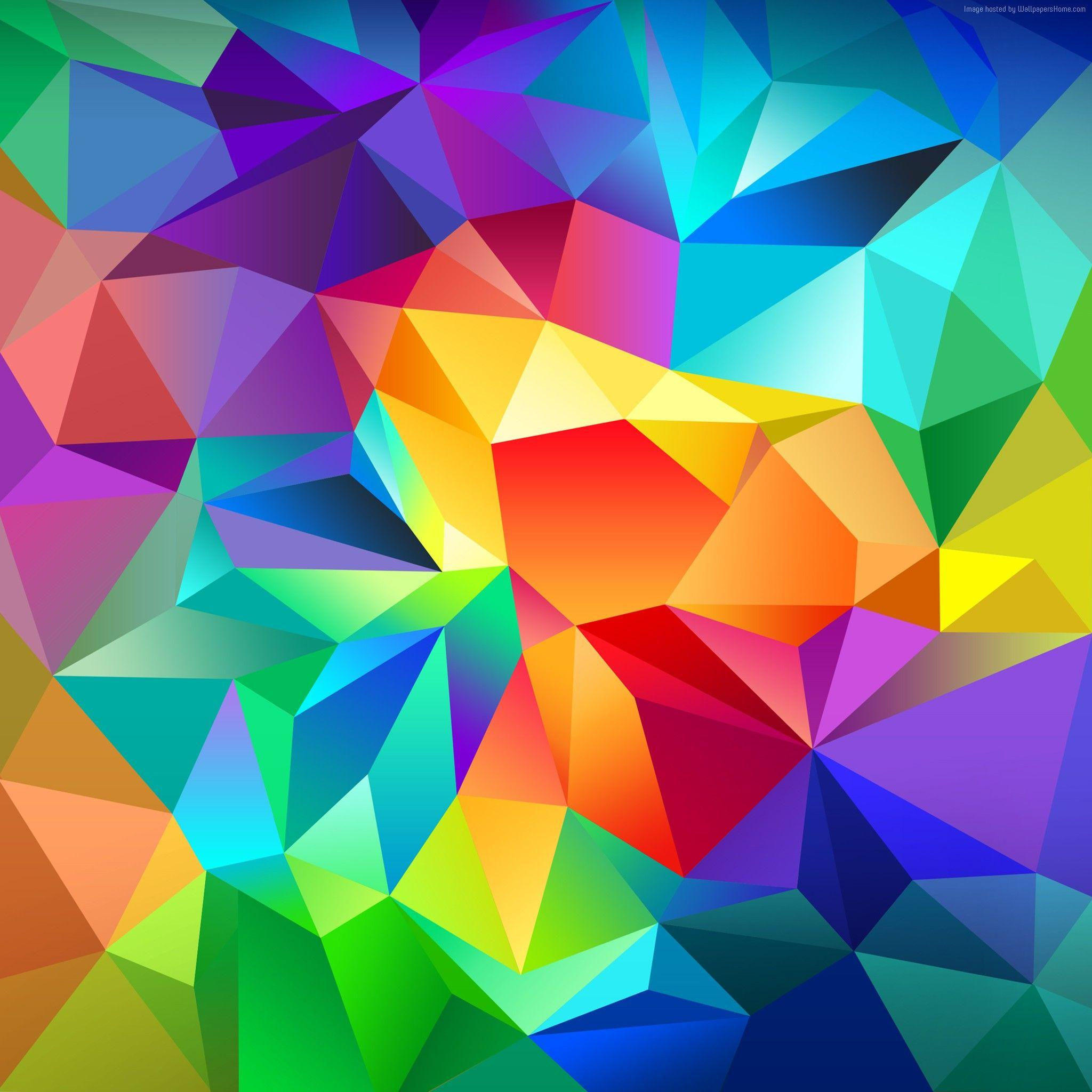 polygon Wallpaper, OS: polygon, android, wallpaper, triangle ...