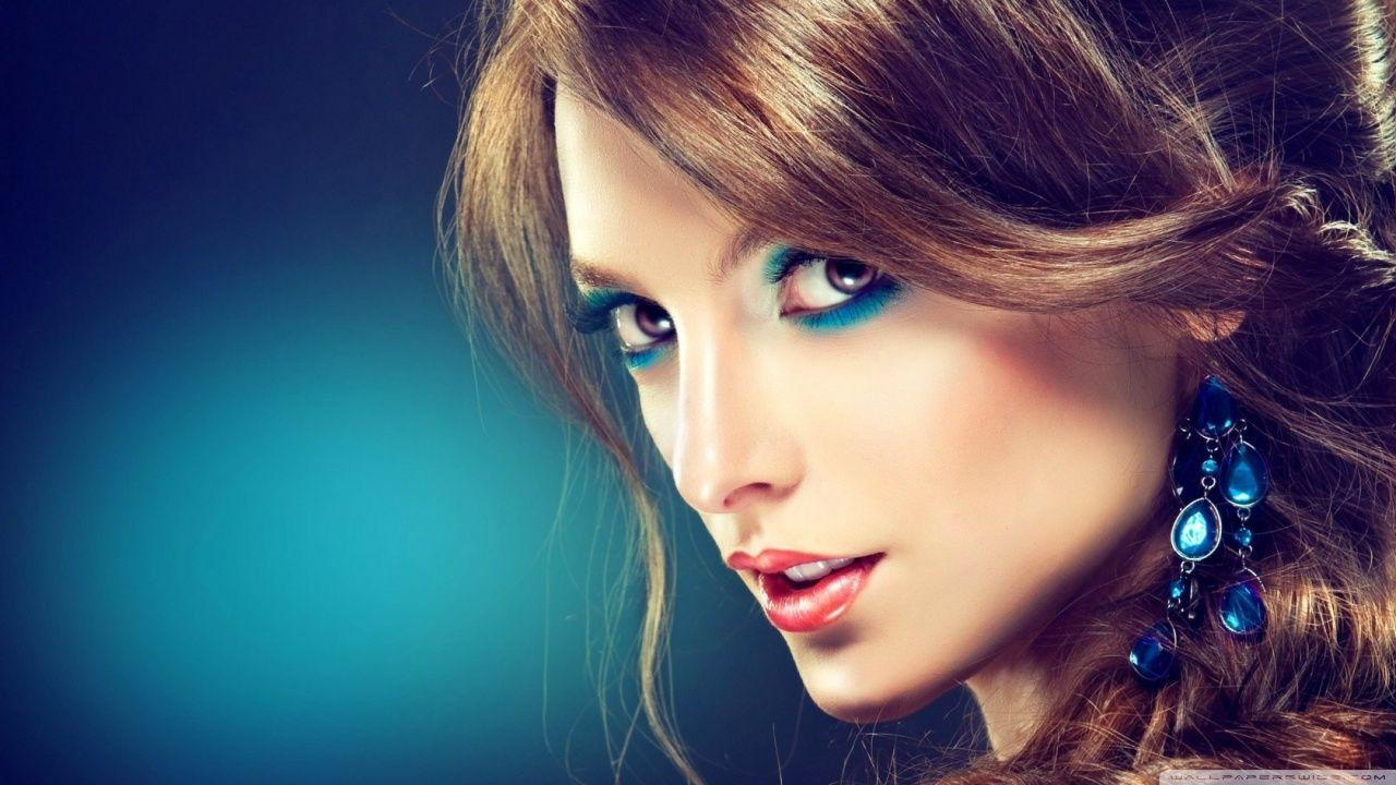 Turquoise Makeup HD desktop wallpaper : High Definition ...