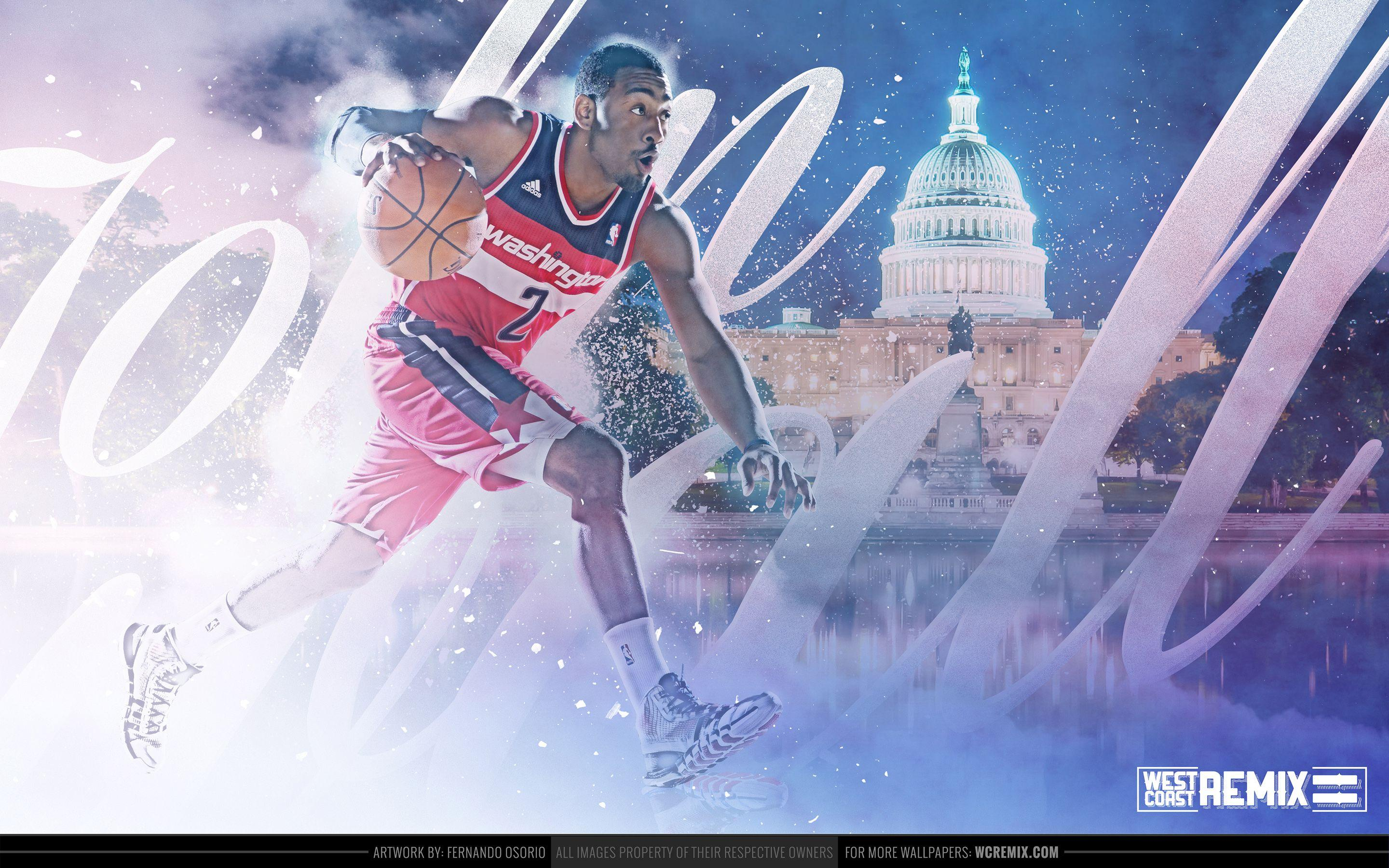 John Wall Wallpaper Art - West Coast Remix