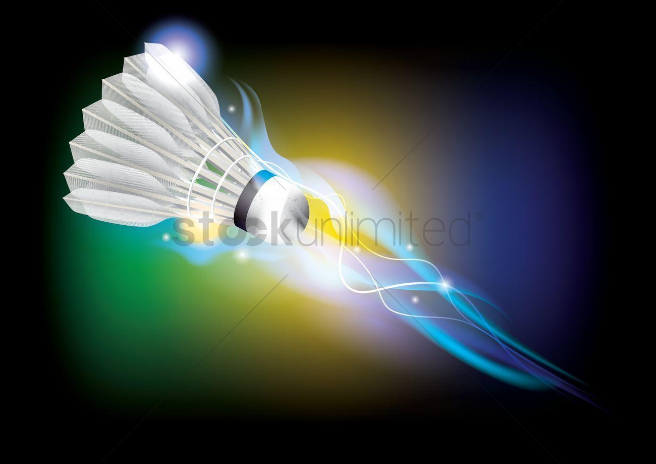Badminton theme wallpaper Vector Image - 1815951 | StockUnlimited