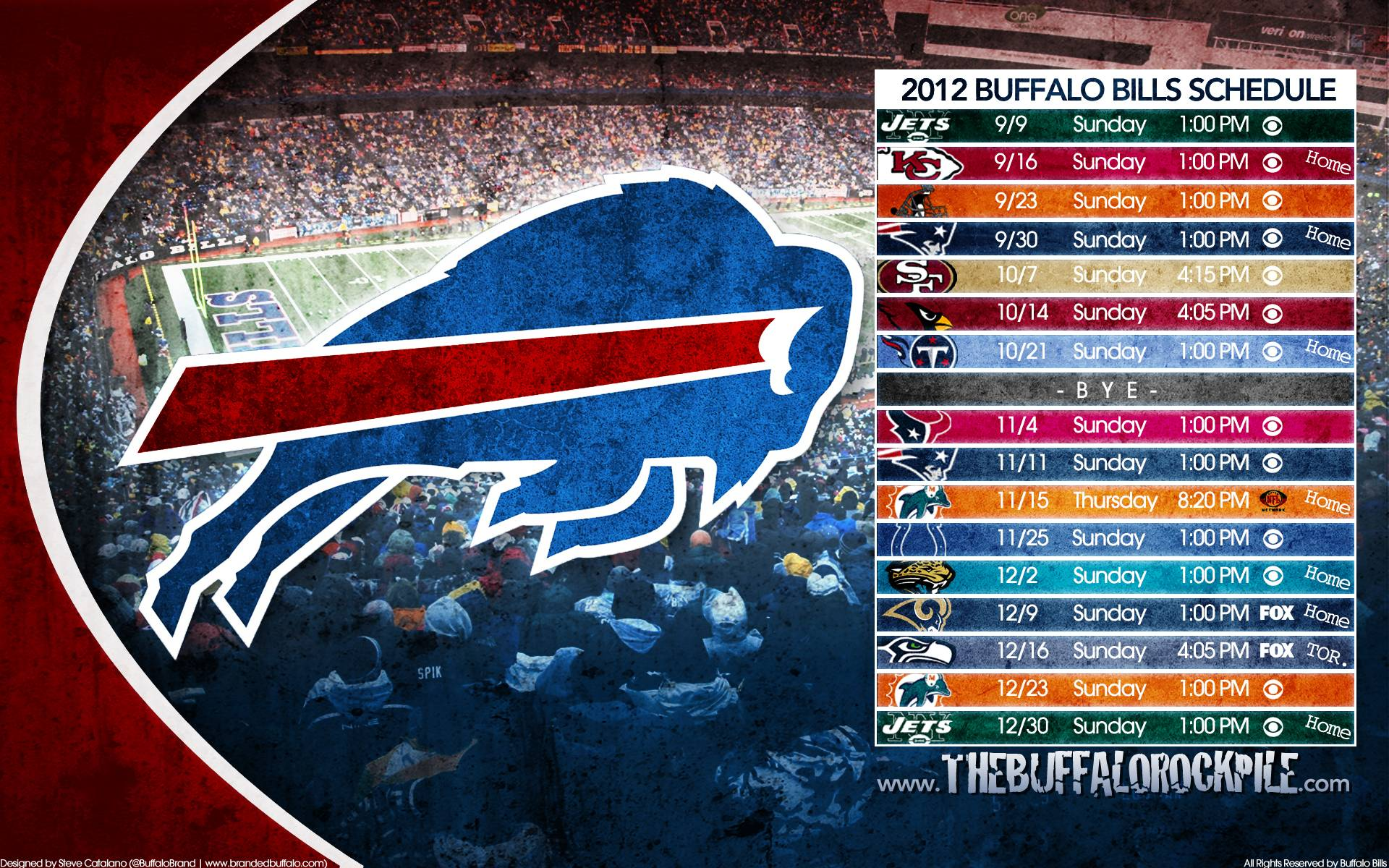 Backgrounds Of The Day: Buffalo Bills
