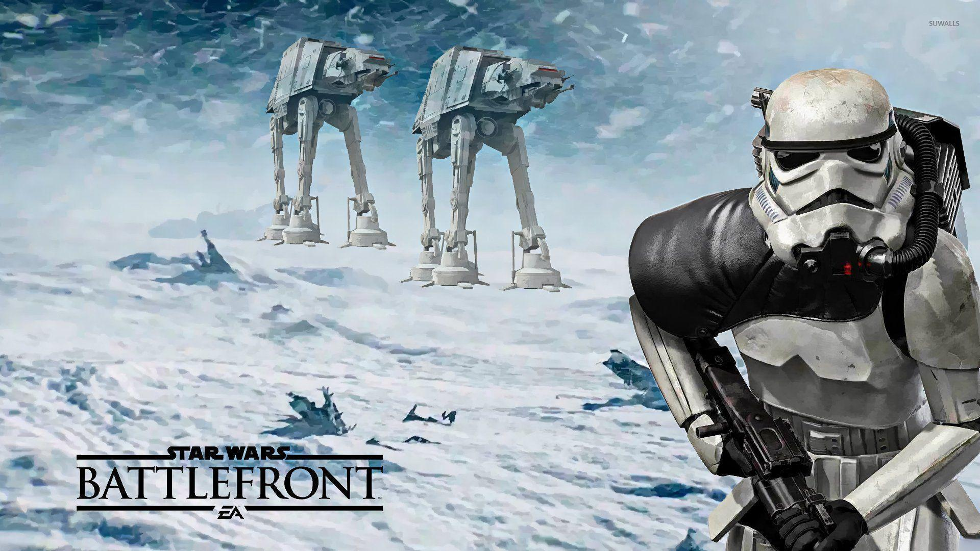Darth Vader and Stormtroopers in Star Wars: Battlefront wallpaper ...