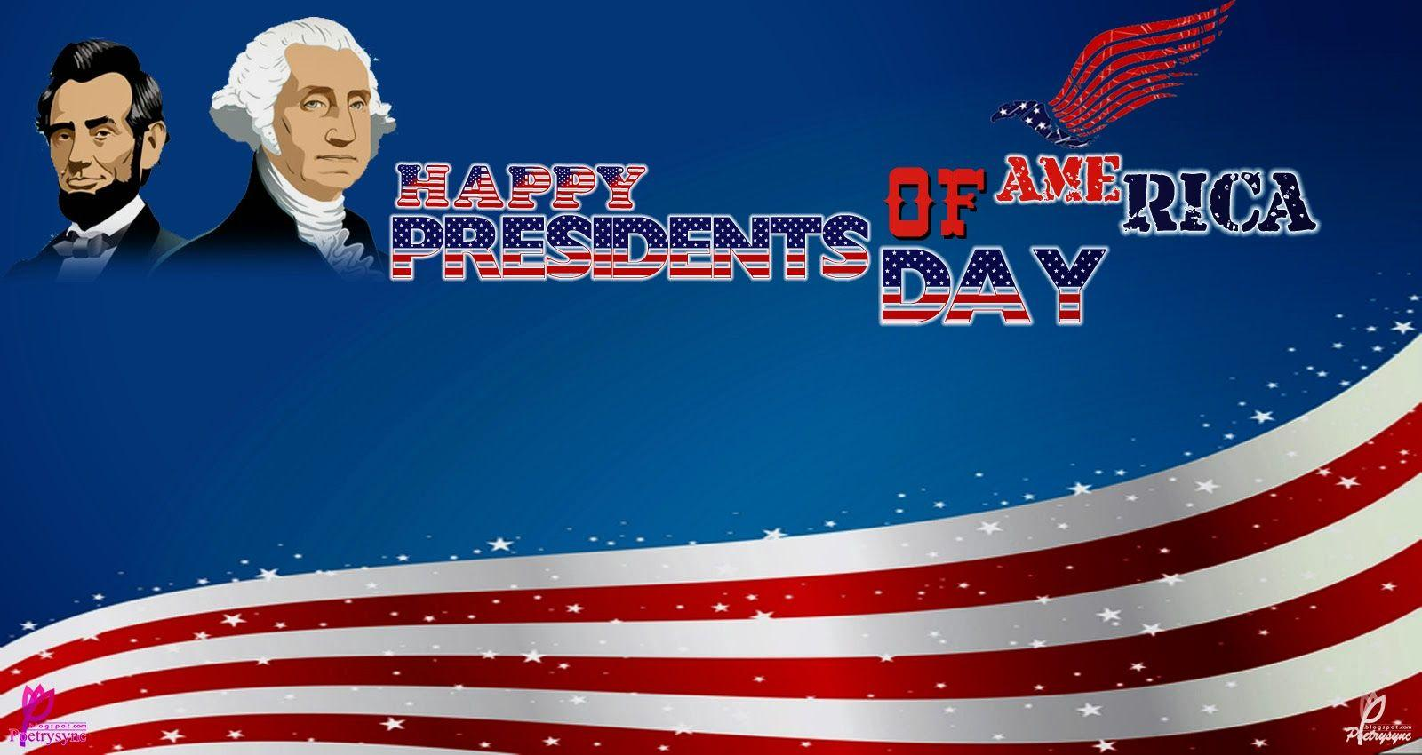 poster illustration of presidents day in the united states of ...