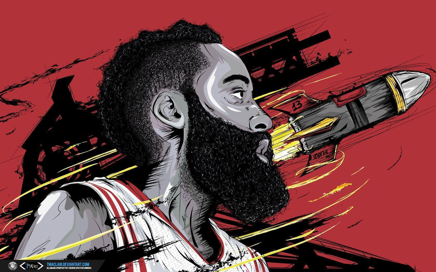 James Harden The Rocket Wallpaper by tmaclabi on DeviantArt