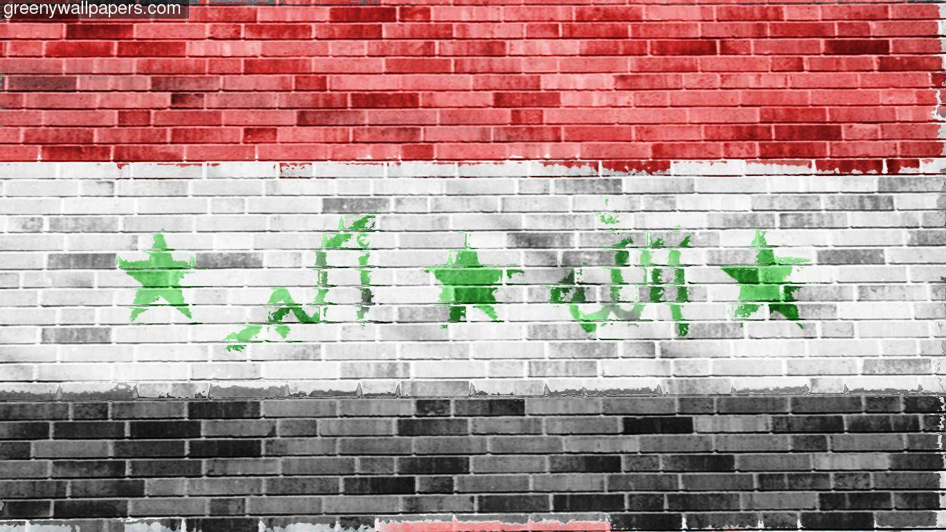 Vietnam Flag Iraqi Iraq Wall With 1366x768 Resolution 1366x768