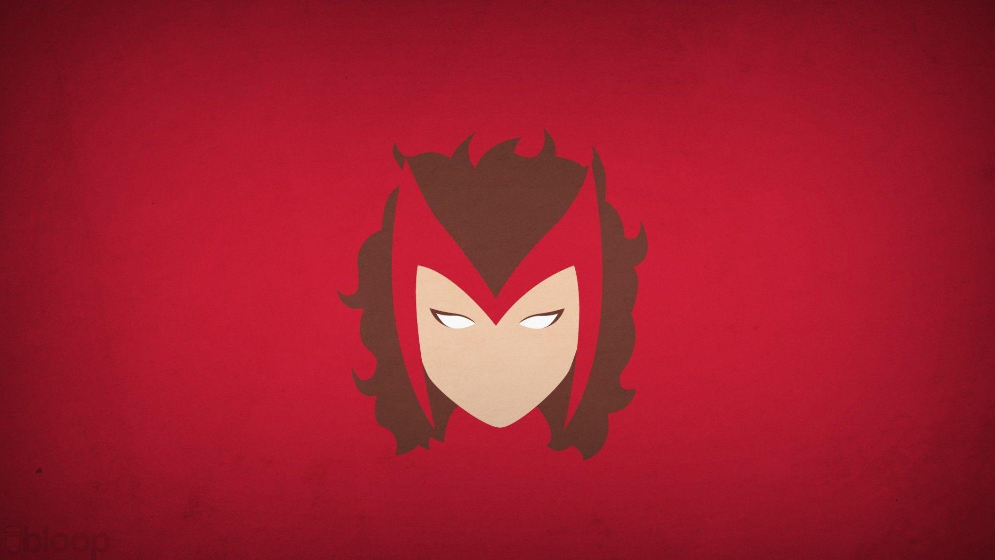 Download Scarlet Witch Minimalism HD Wallpapers In 2048x1152 Screen