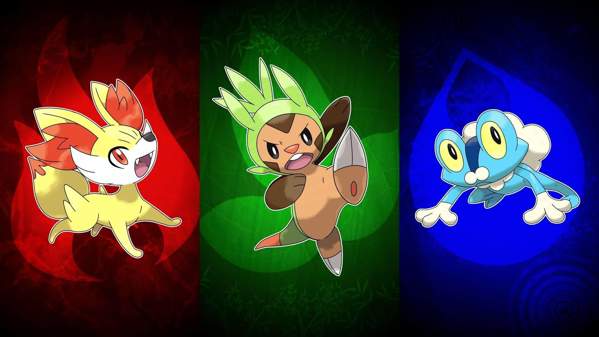 Fennekin, Chespin, and Froakie HD Wallpapers