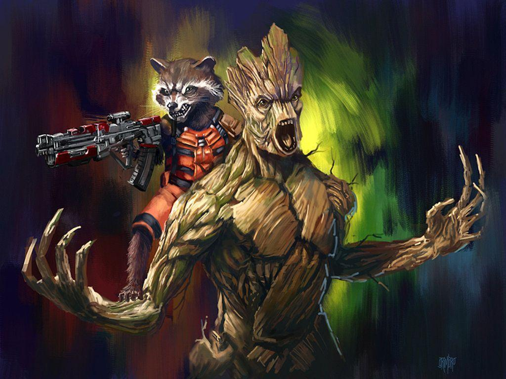 Rocket and Groot Wallpaper - WallpaperSafari