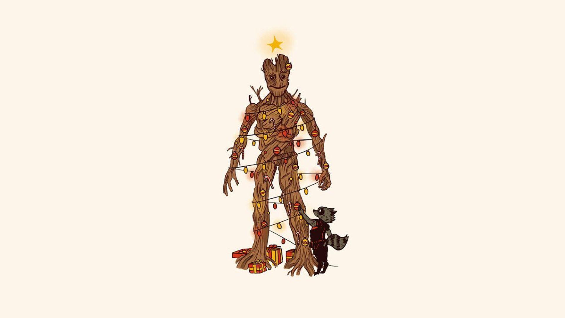 Groot Christmas Tree (1920x1080) : wallpapers