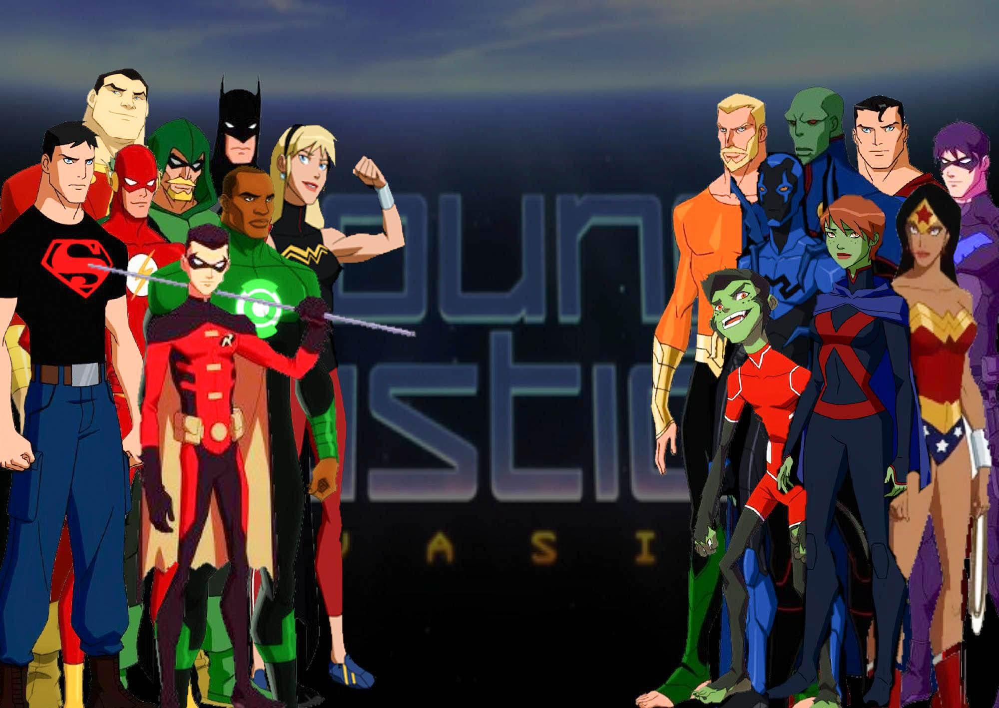 young justice wallpapers wallpaper cave