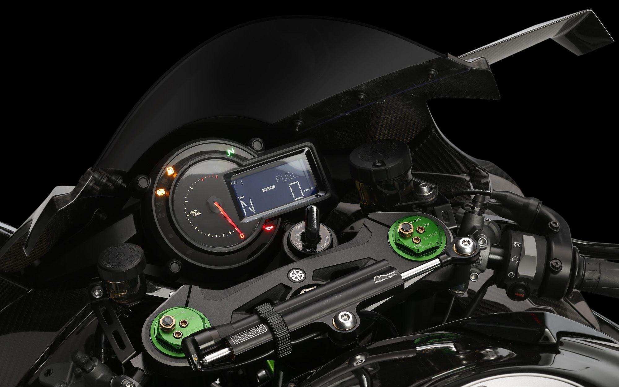 Kawasaki Ninja H2R Dashboard Moto HD Wallpaper