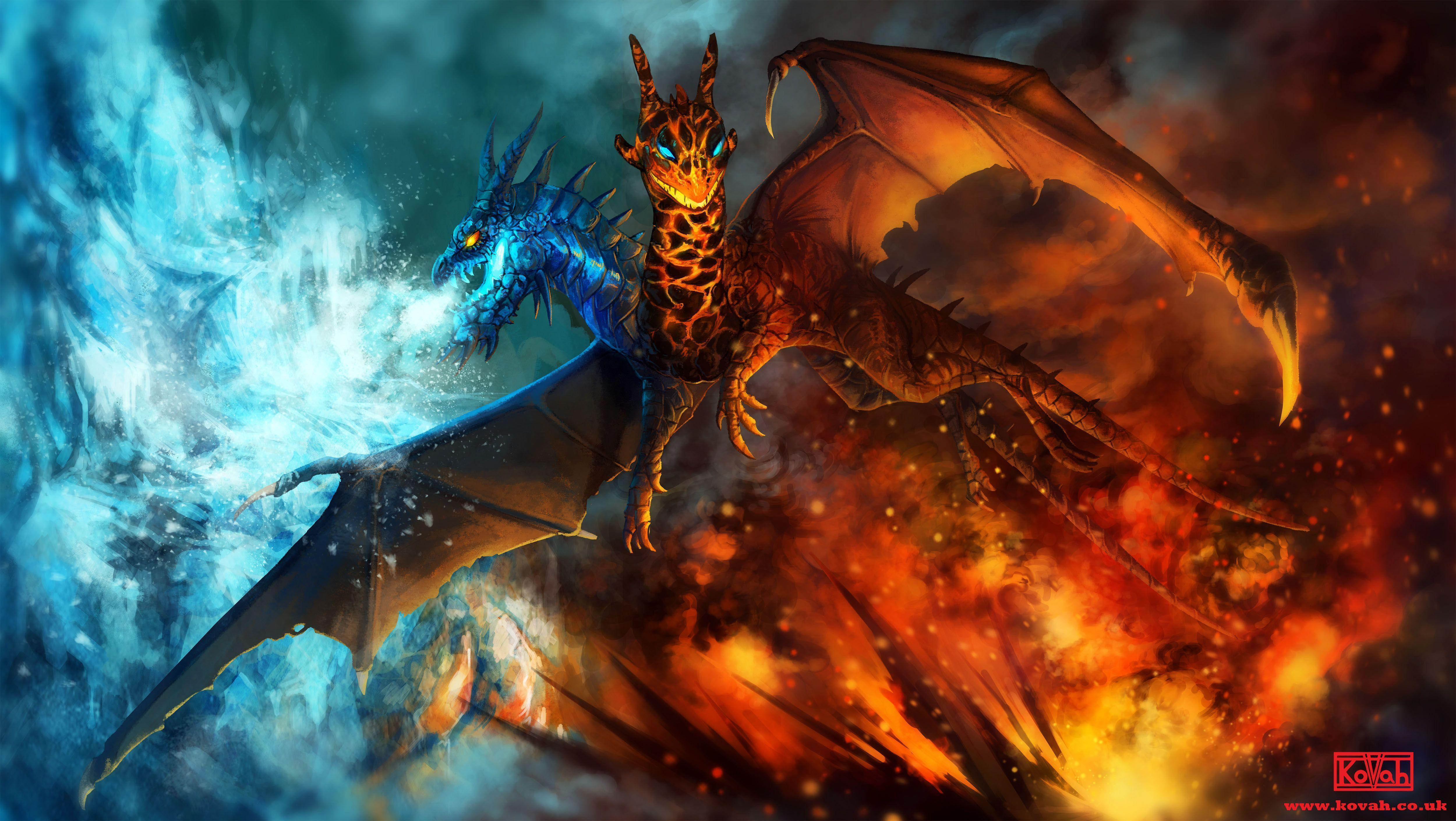 Fire And Ice Wallpapers Wallpaper Cave