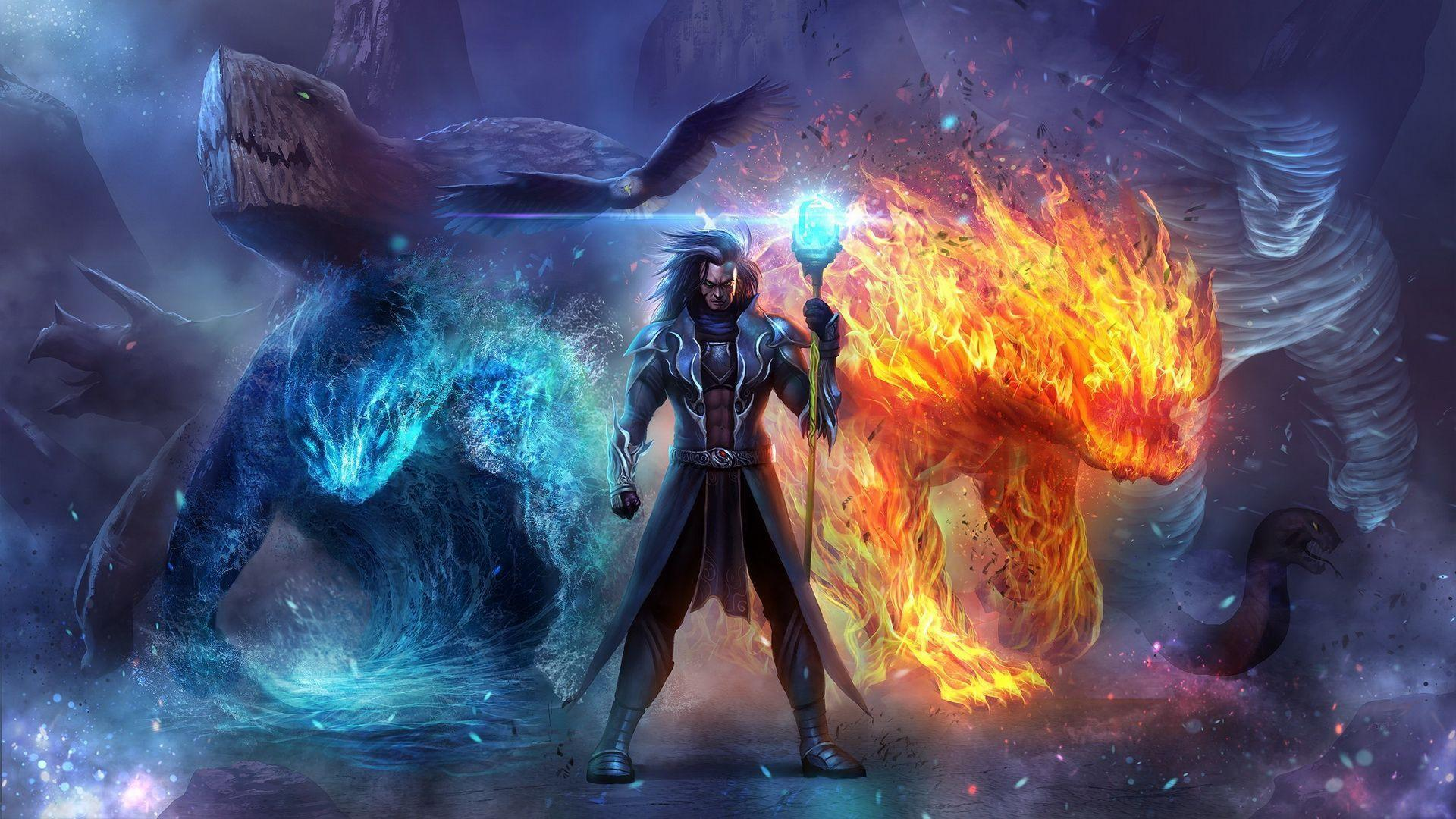 HD Wizard In Ice And Fire Wallpaper