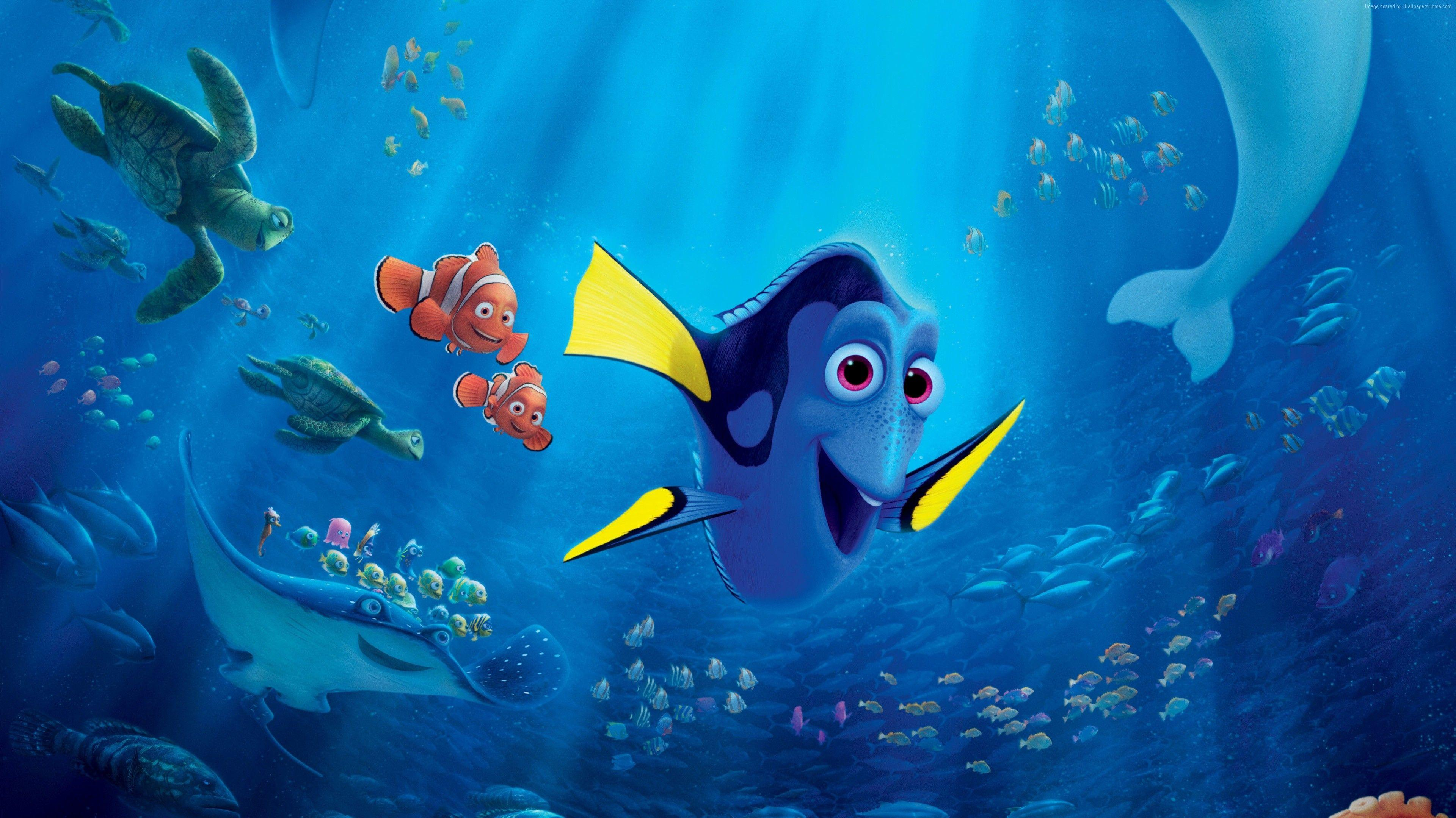Finding Dory Wallpaper, Movies: Finding Dory, hank, nemo, fish