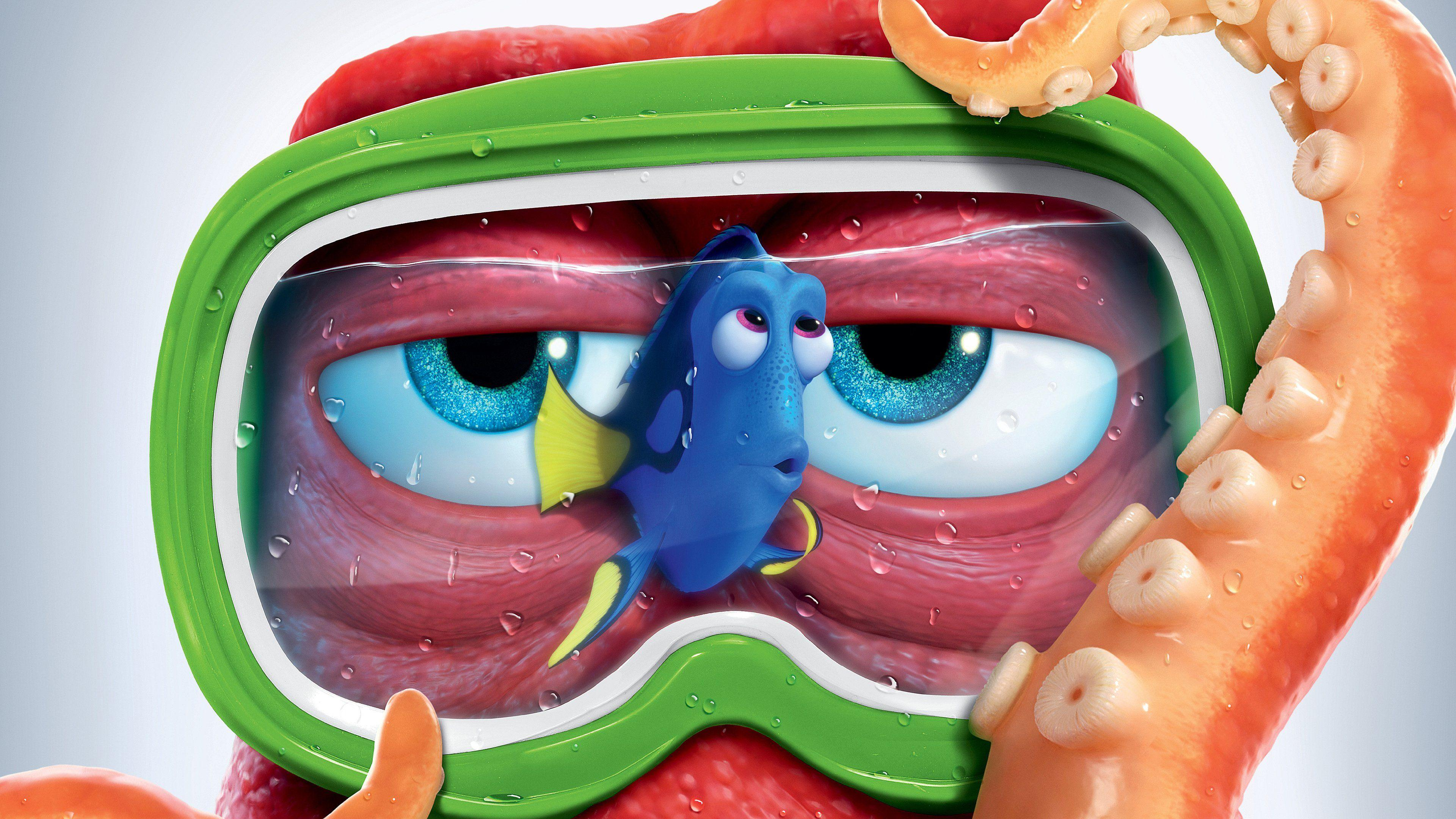 Wallpapers Finding Dory, Hank, Octopus, Dory, Animation, Movies,