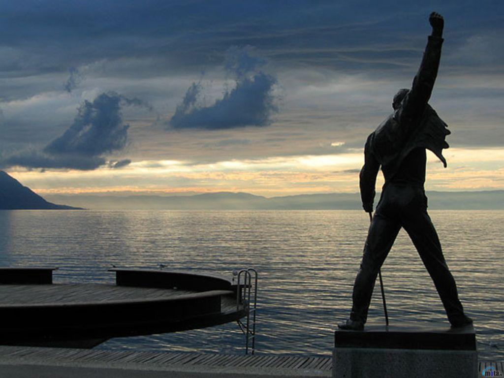 Wallpapers lake, Montreux, monument, switzerland, Freddie Mercury