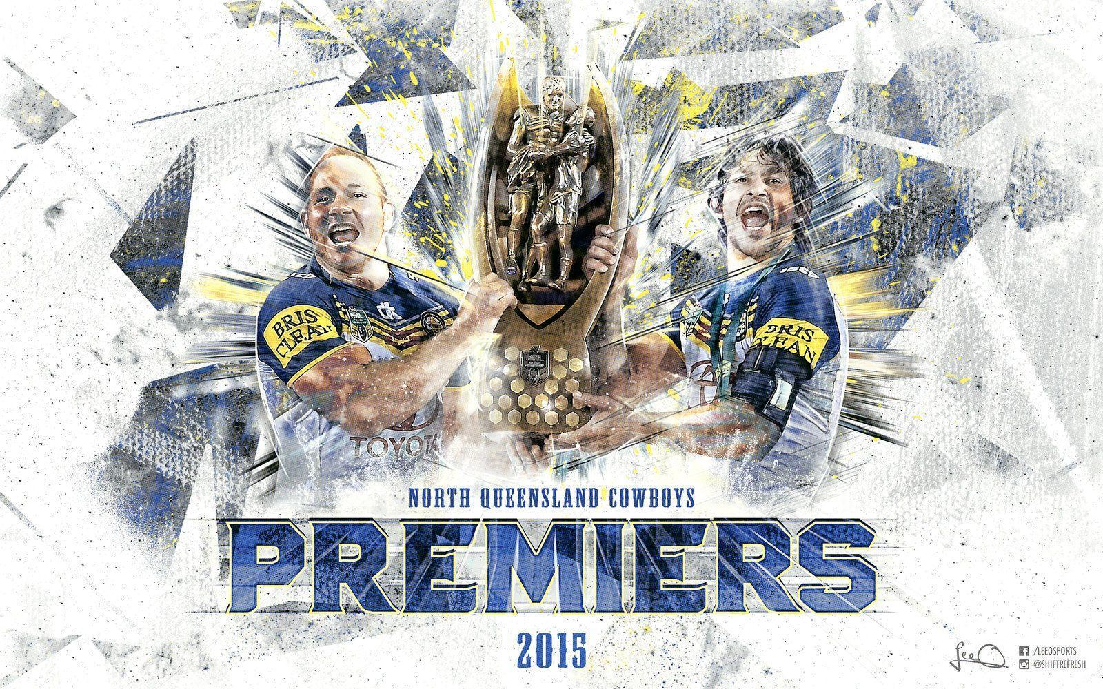 NQ Cowboys 2015 NRL Premiers Wallpaper by skythlee on DeviantArt