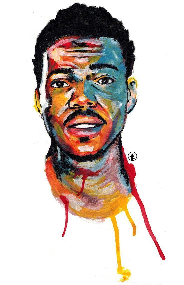 "pencilfingerz: ""Acrylic painting of Chance The Rapper"