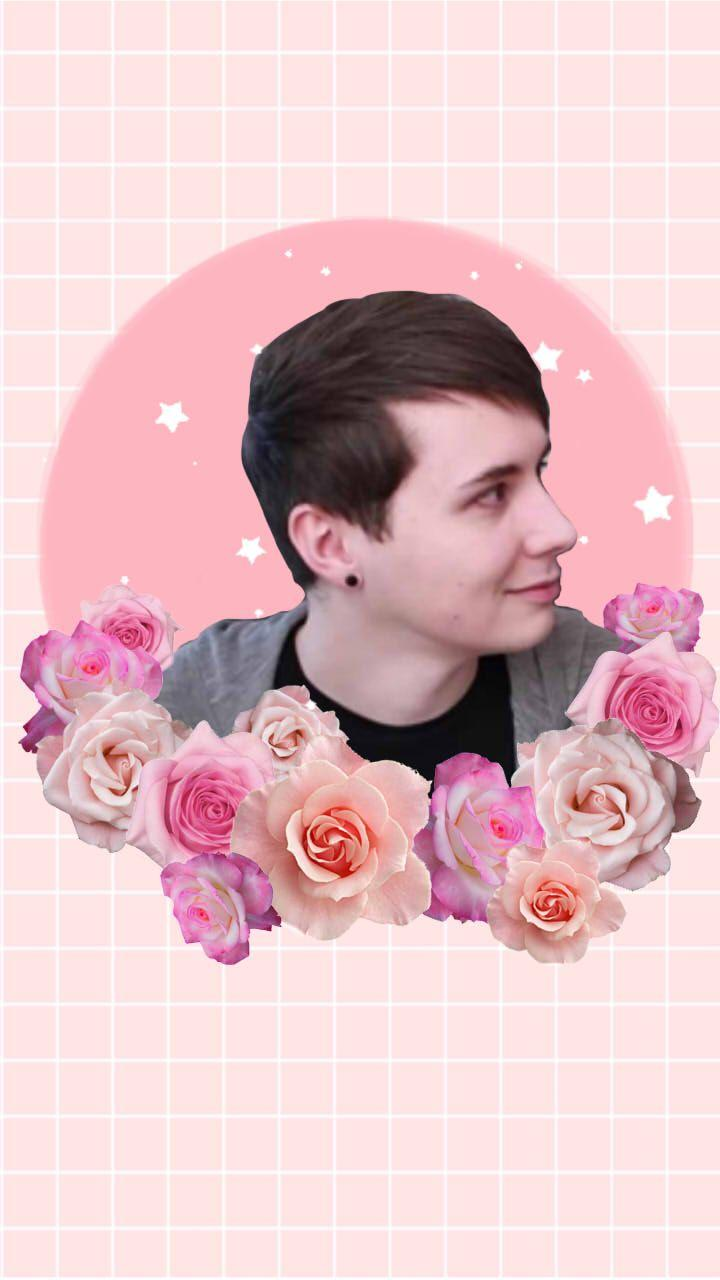 Cute floral Phil wallpaper!