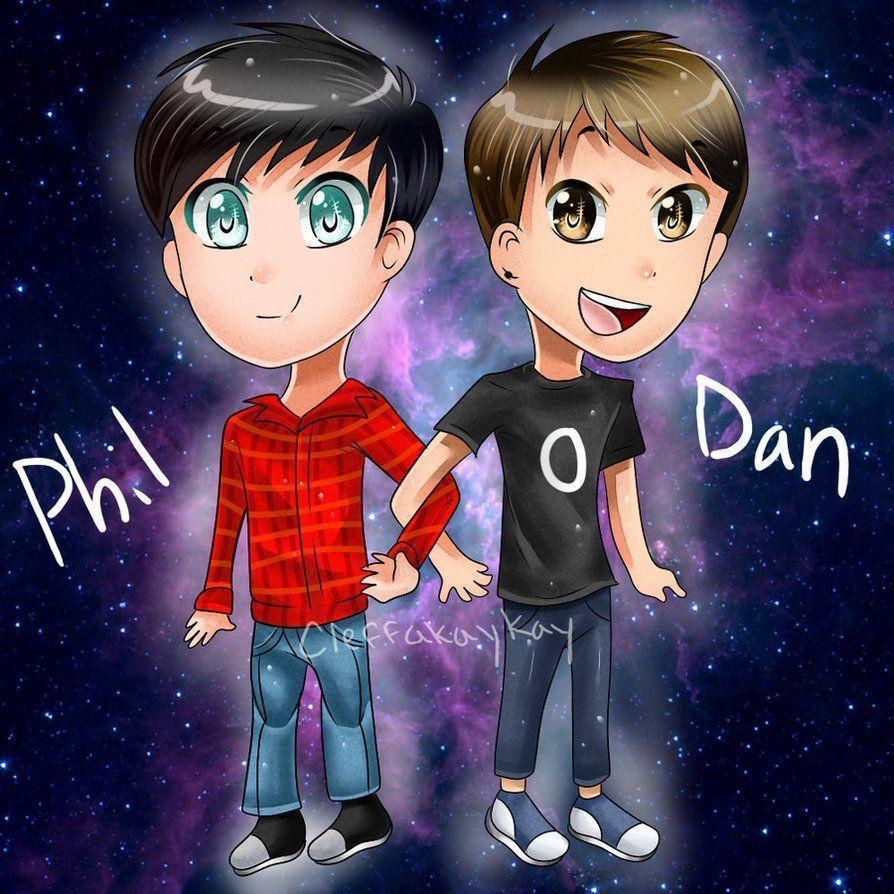 1000+ image about cute dan and phil cartoons