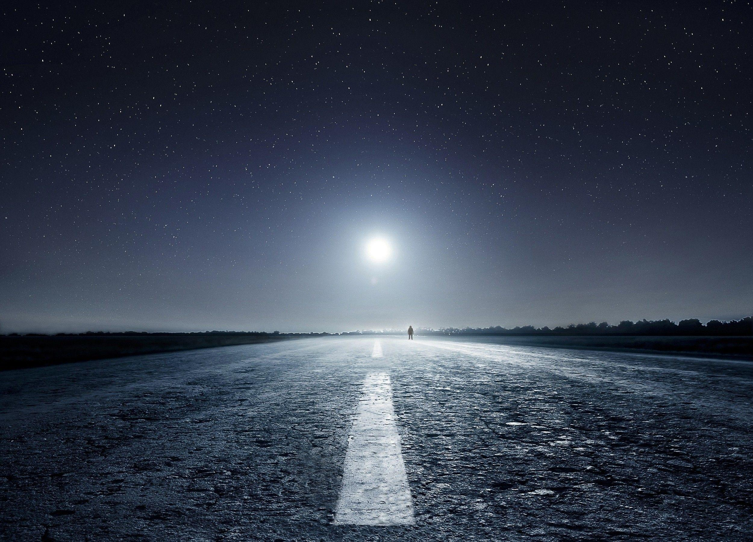 nature wallpapers night road - photo #2