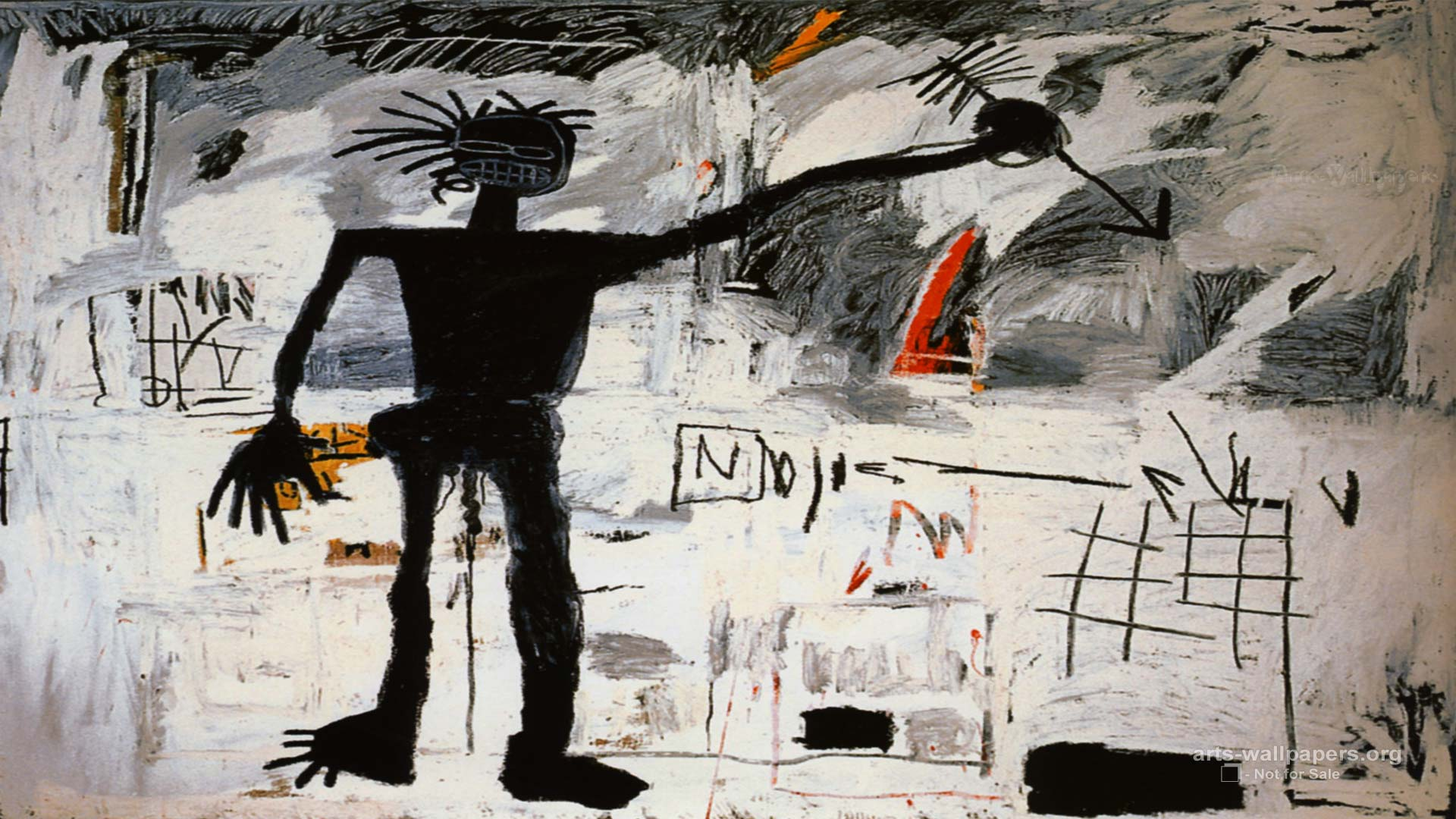jean-michel basquiat artwork | Jean Michel Basquiat Wallpaper 01 ...