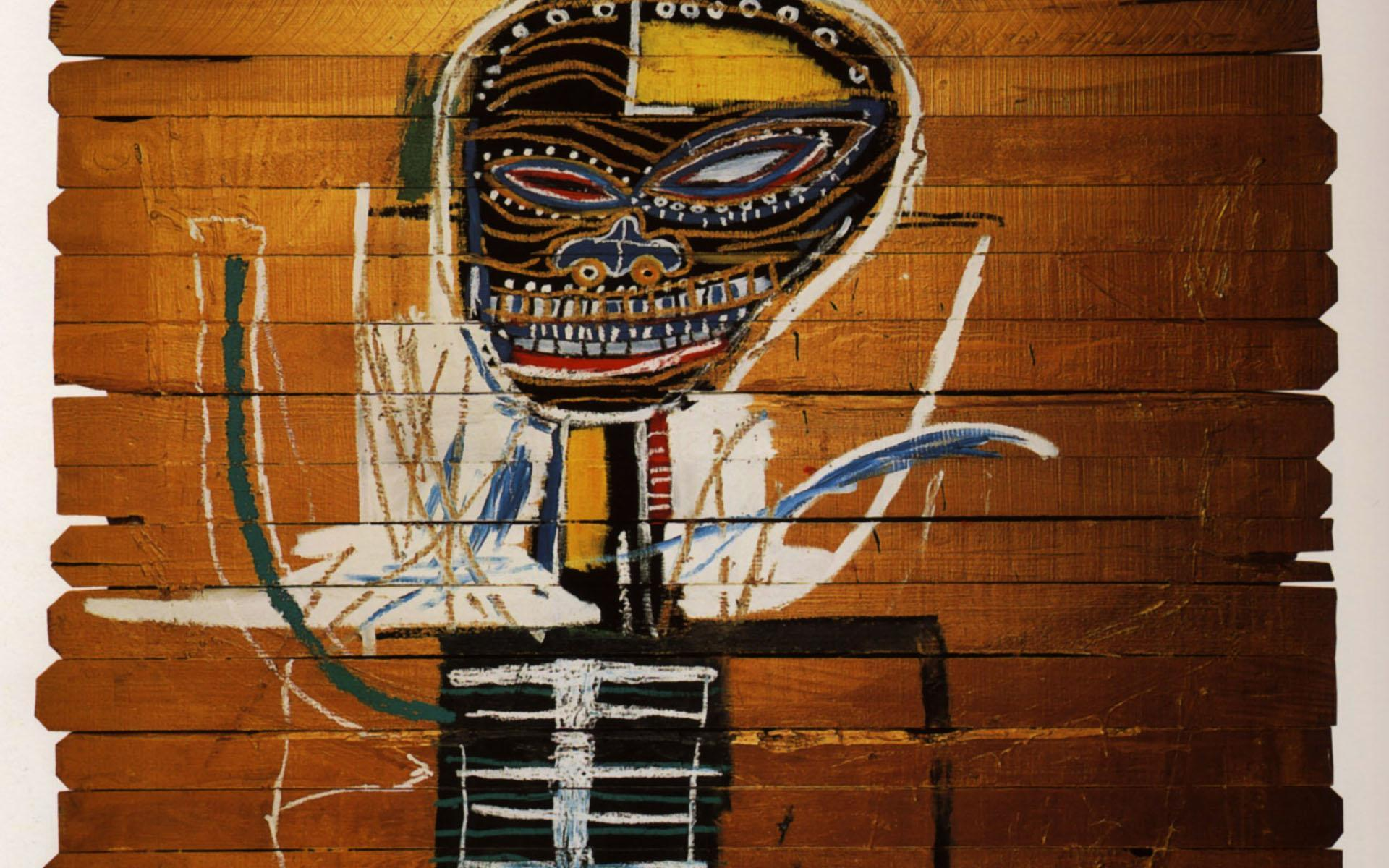 Jean-Michel Basquiat Wallpaper, Gold Griot | Wallpaper