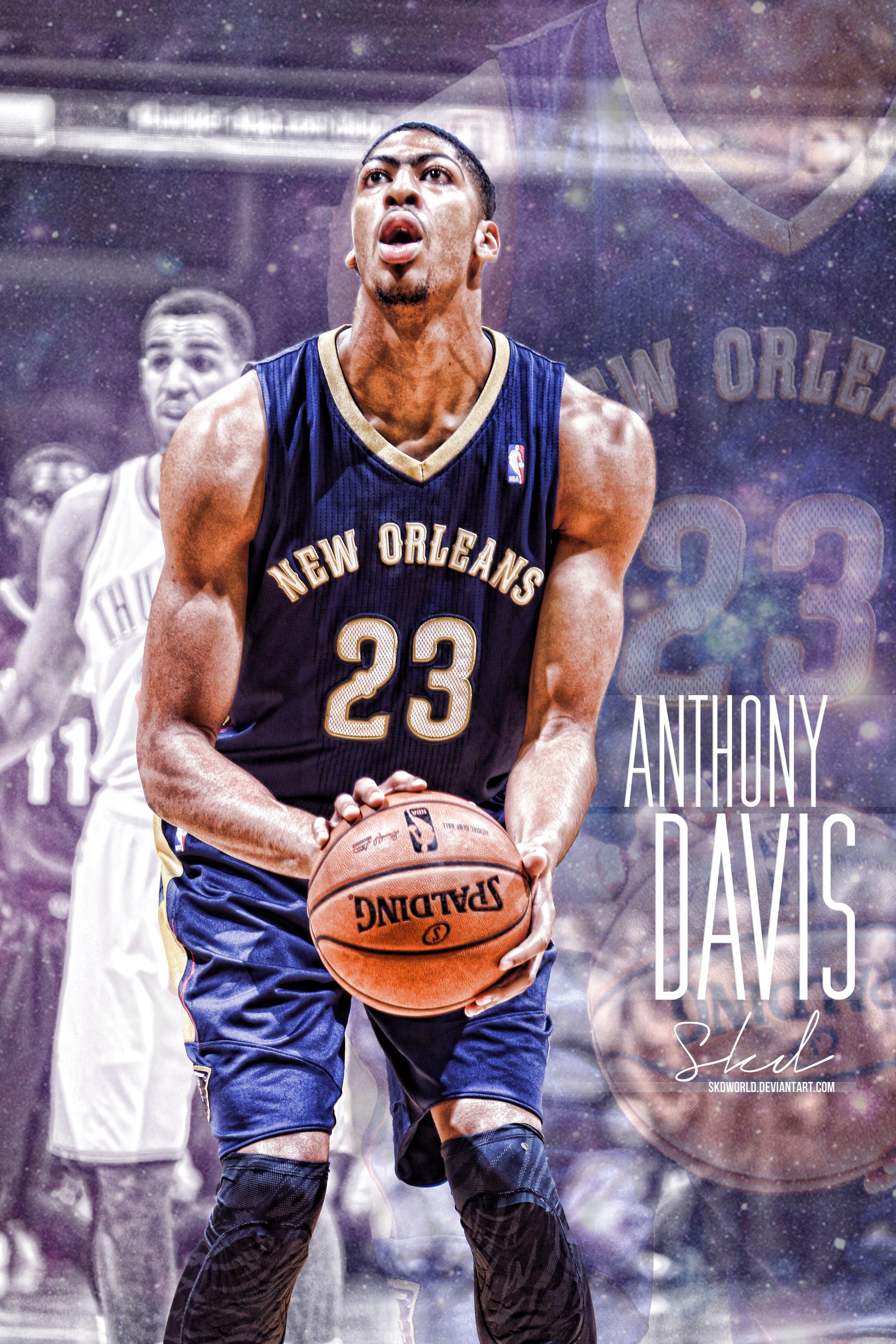 Anthony Davis: Galactic Artwork by SkdWorld