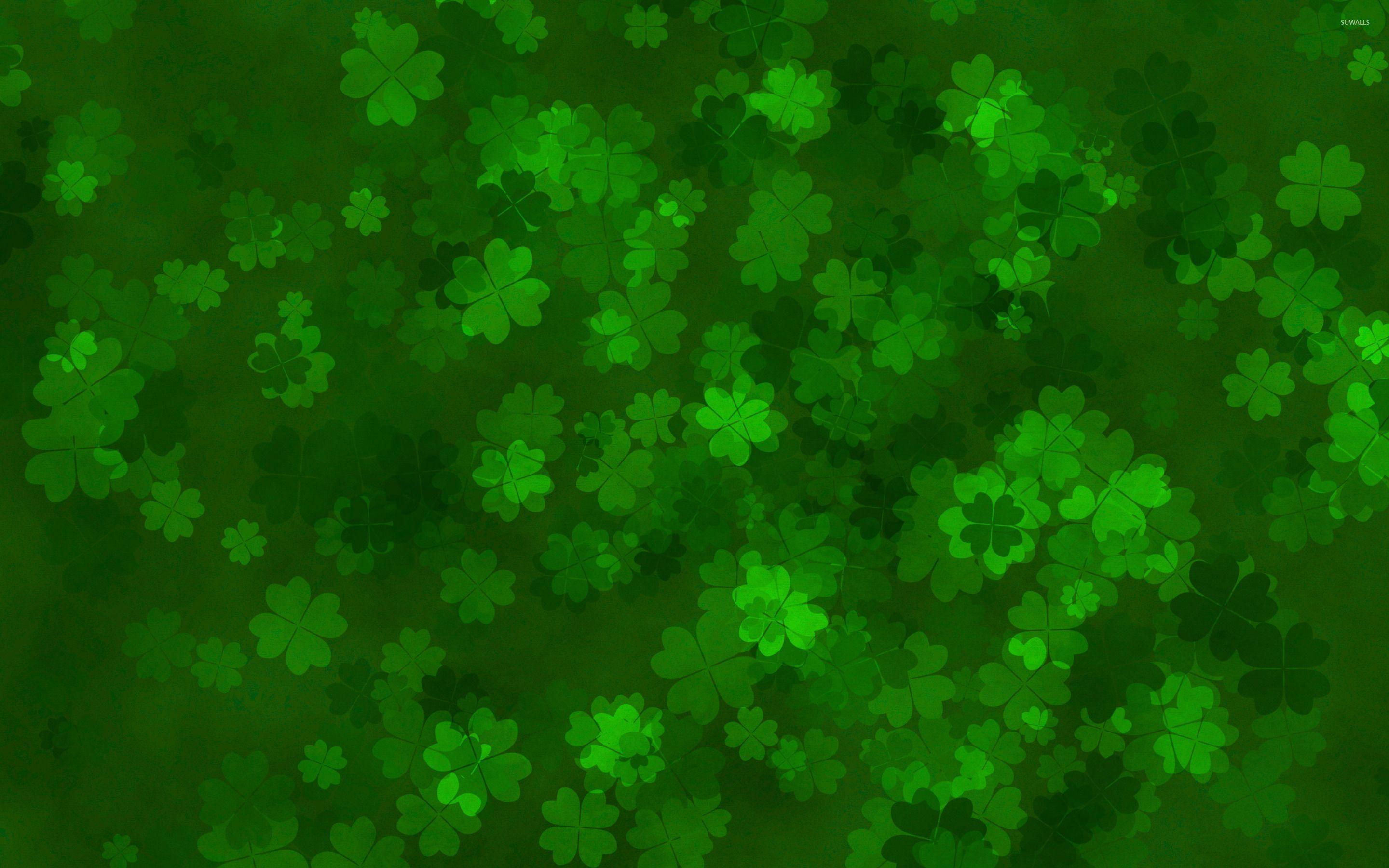 Clovers wallpaper - Holiday wallpapers - #28270