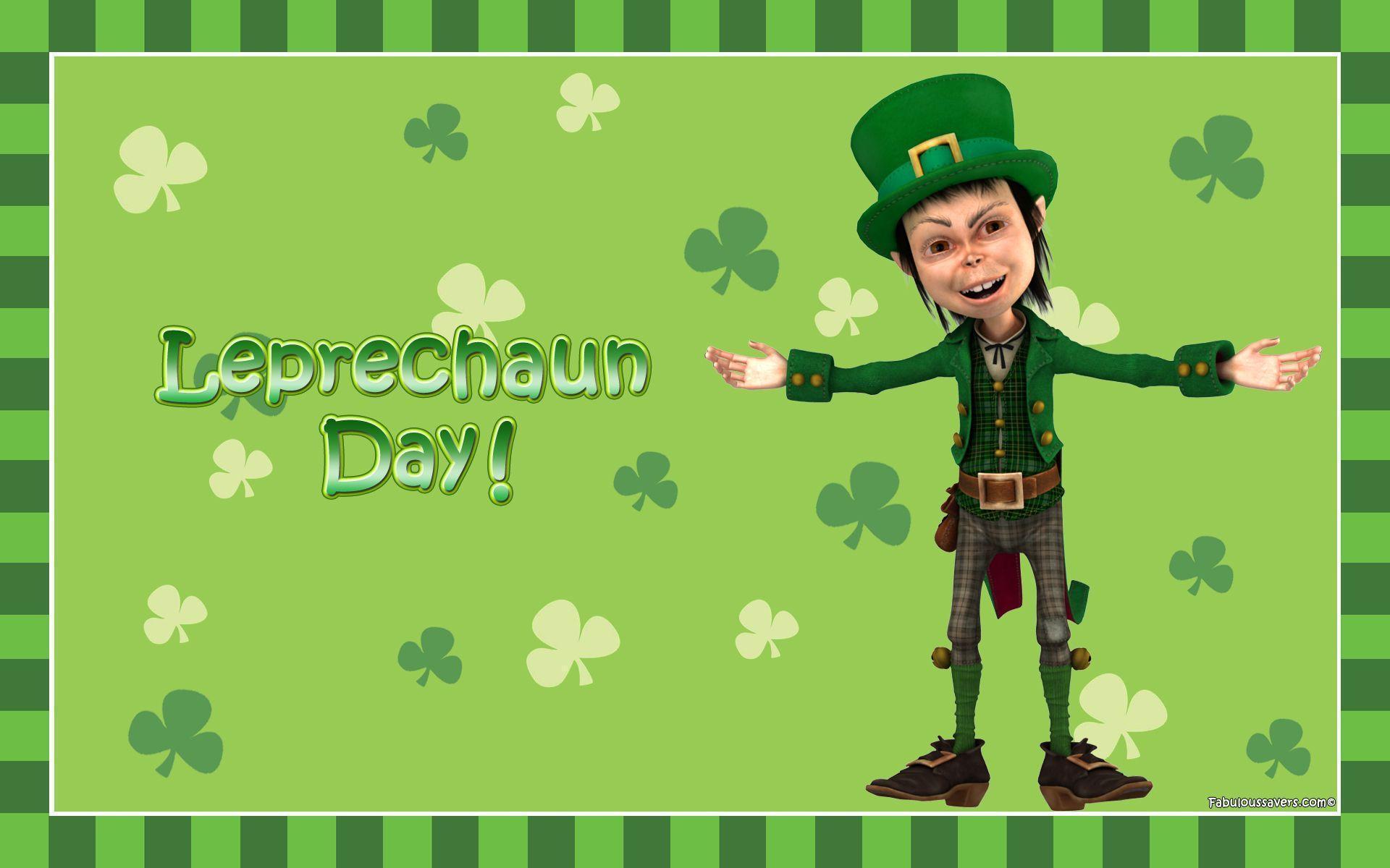 Free Leprechaun Day computer desktop wallpaper