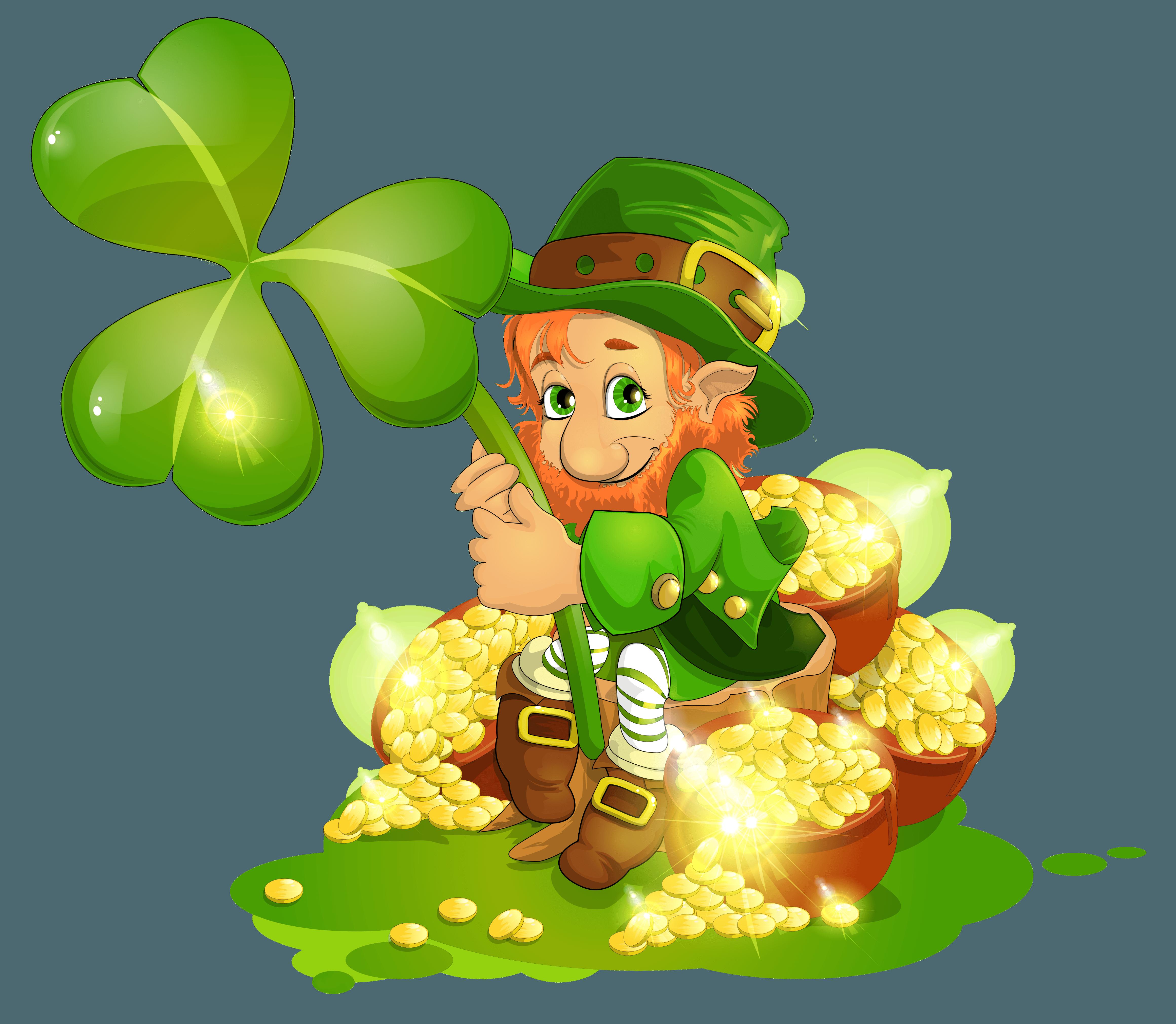Leprechaun pot of gold clipart - ClipartFest