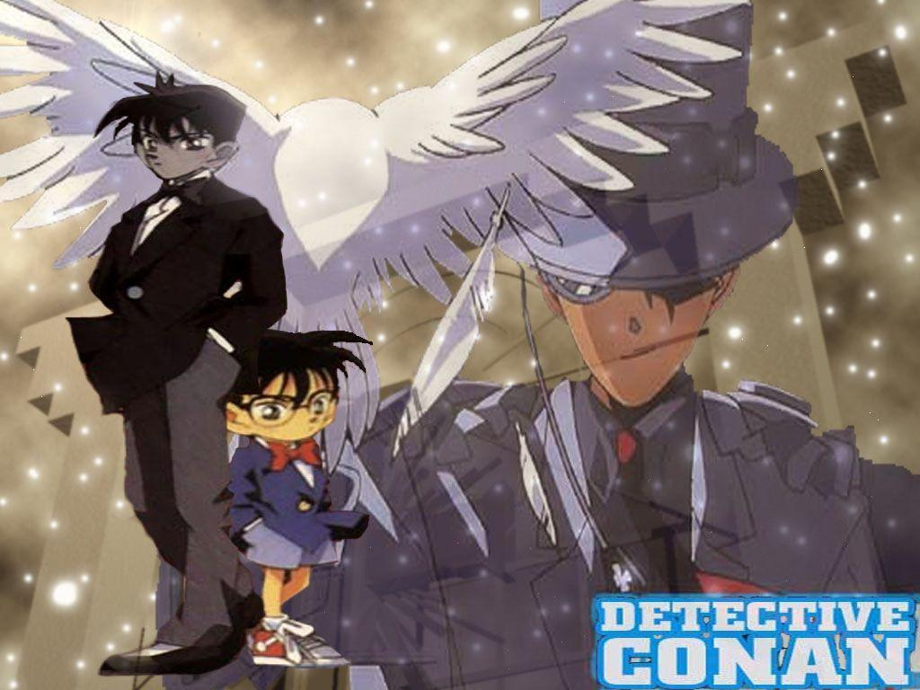 Detective Conan Shinichi And Kaito Kid - wallpaper.