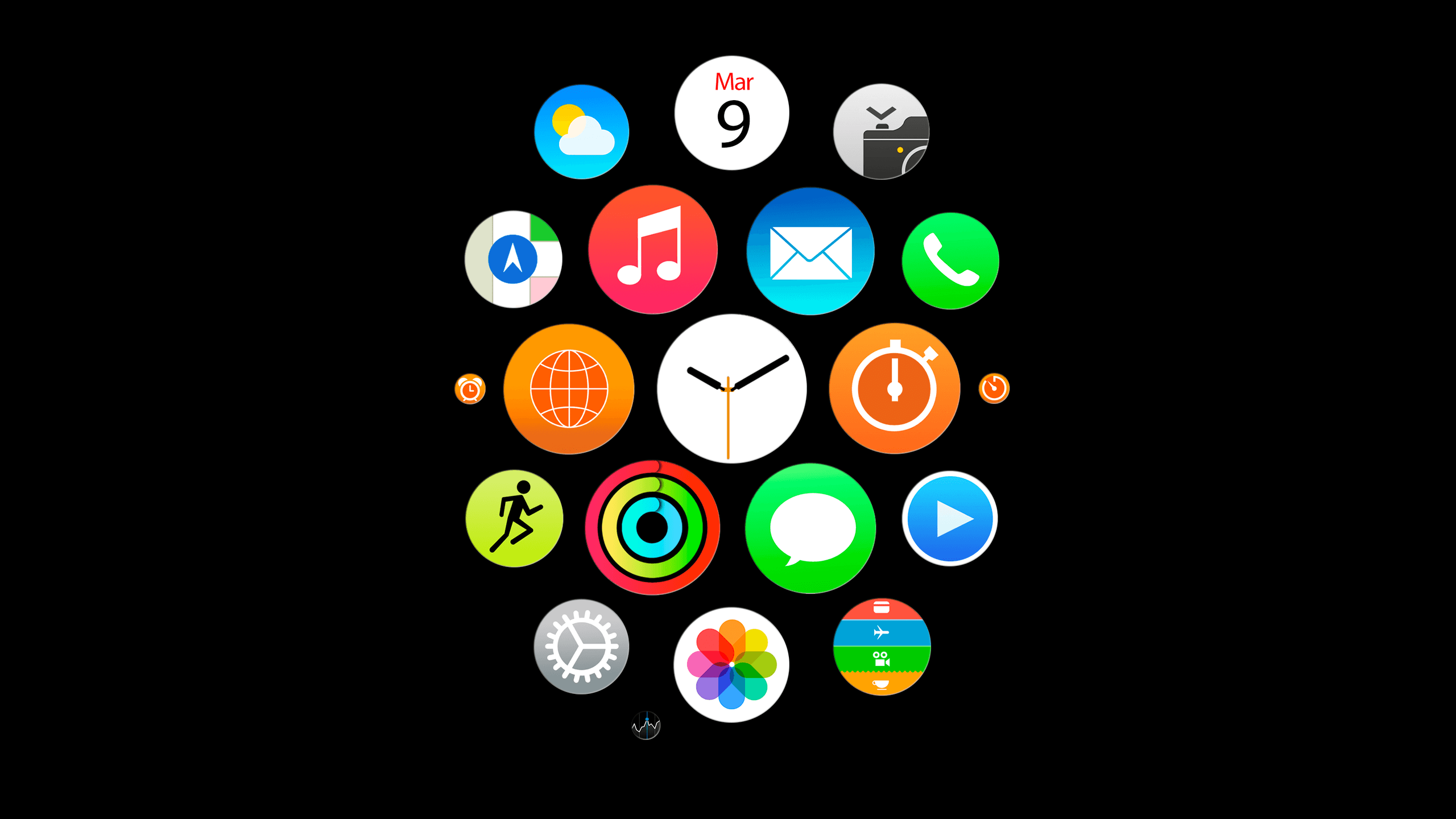 Apple Watch app icons wallpapers for iPhone, iPad, and desktop