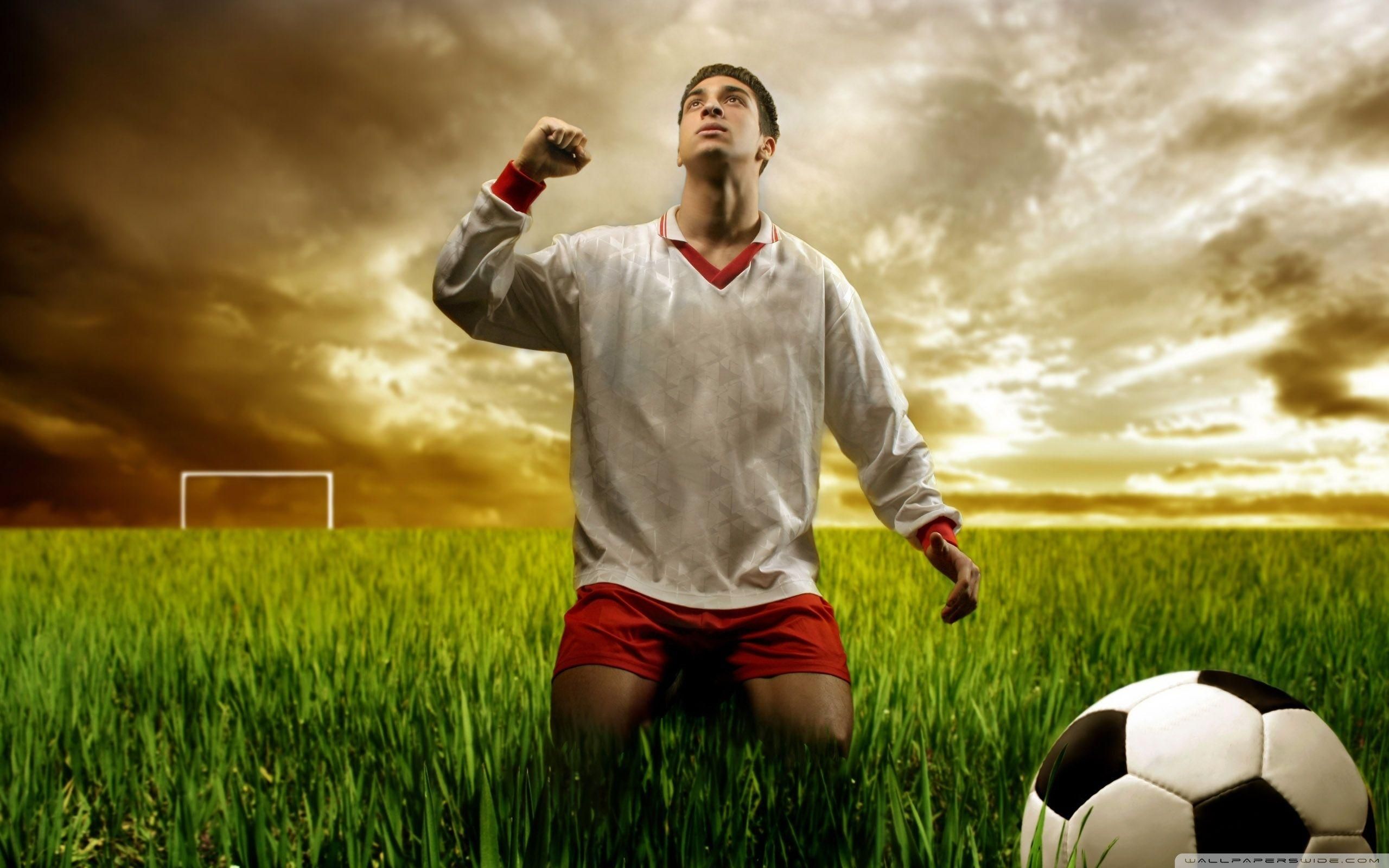 Soccer Player Praying HD desktop wallpaper : High Definition ...
