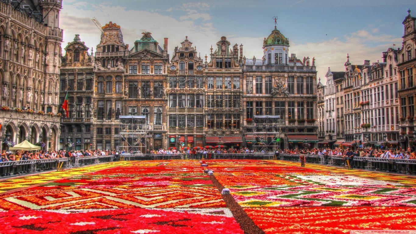 Flower Carpet - Grand Place - Brussels, Belgium HD desktop ...