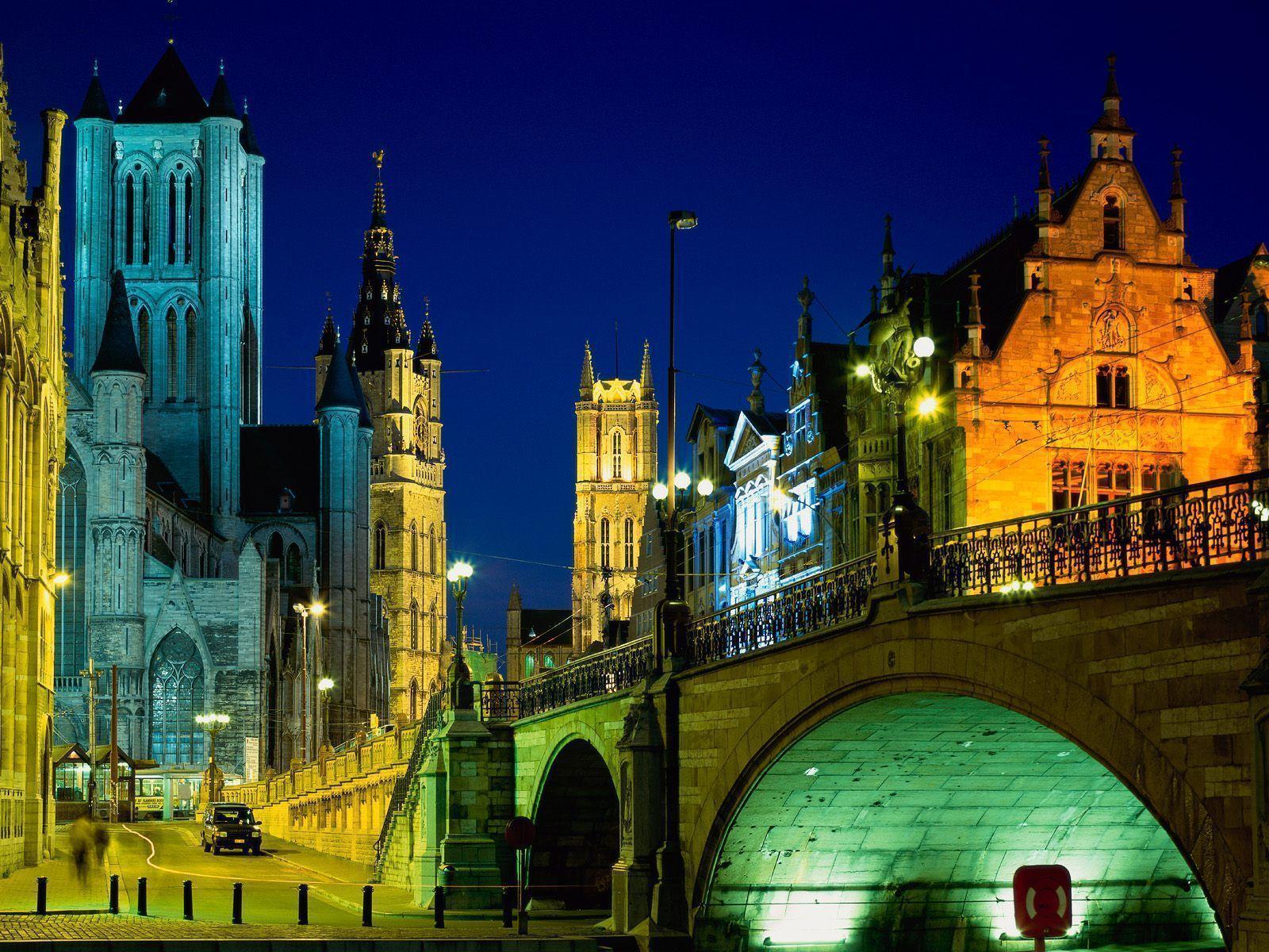 Evening in Ghent Belgium Wallpapers | HD Wallpapers