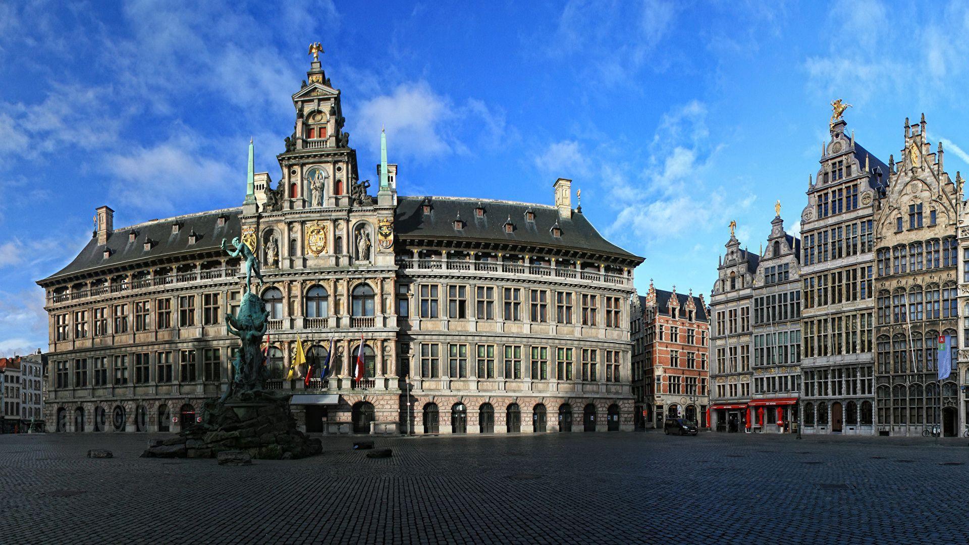 Wallpapers Belgium Houses Monuments Antwerpen Street Cities ...