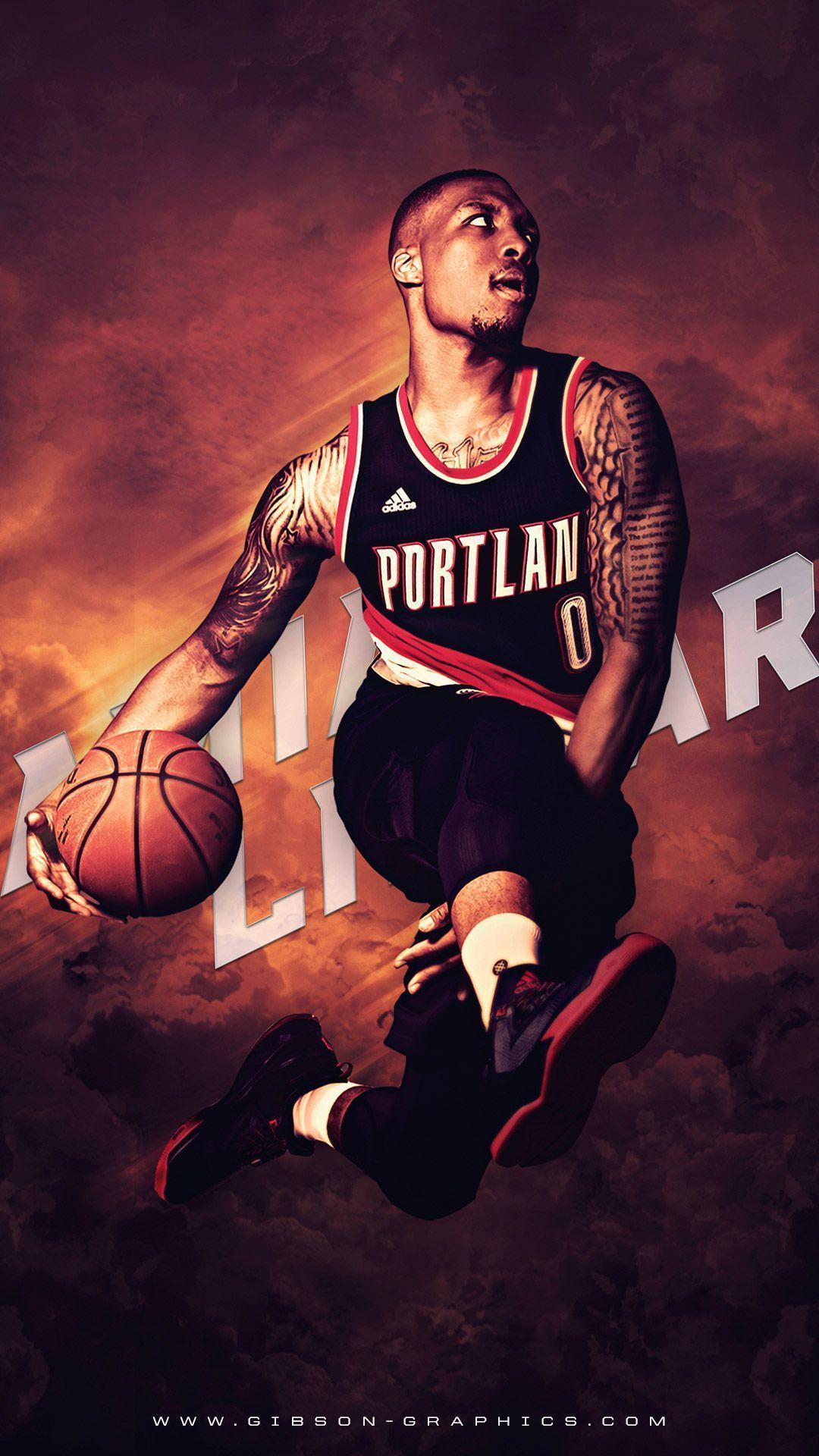 Damian Lillard Blazers 2016 Mobile Wallpaper | Basketball ...